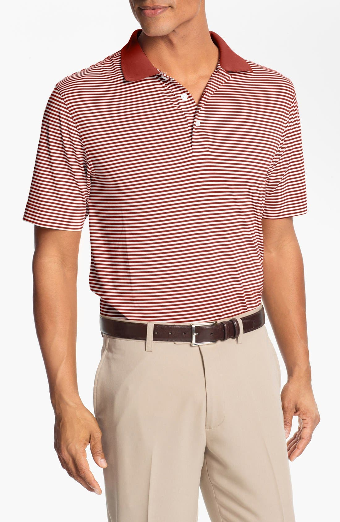 Cutter & Buck 'Trevor' Stripe DryTec Polo (Regular & Big)