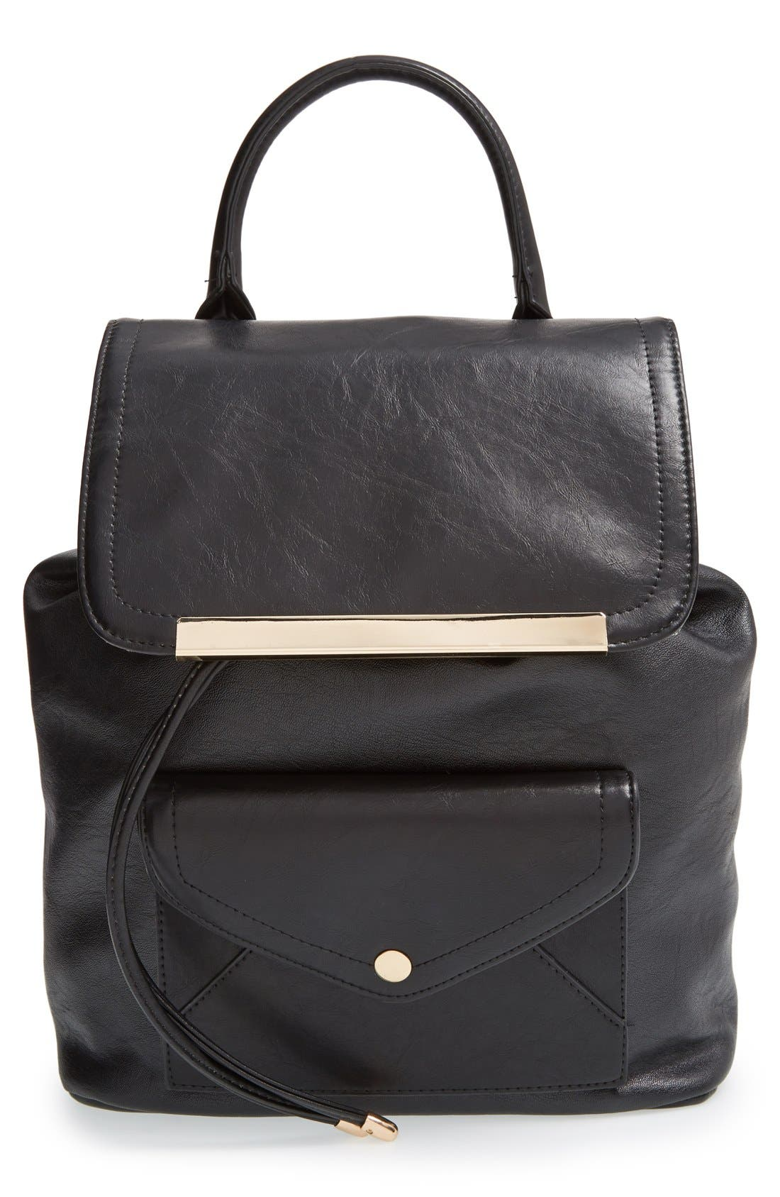 Alternate Image 1 Selected - Cesca 'Leo' Faux Leather Backpack