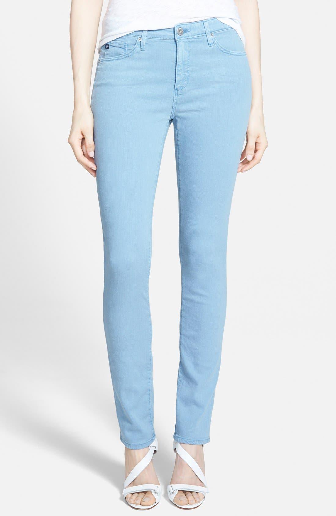 Main Image - AG 'The Prima' Cigarette Leg Skinny Jeans (Sulfur Hazy)