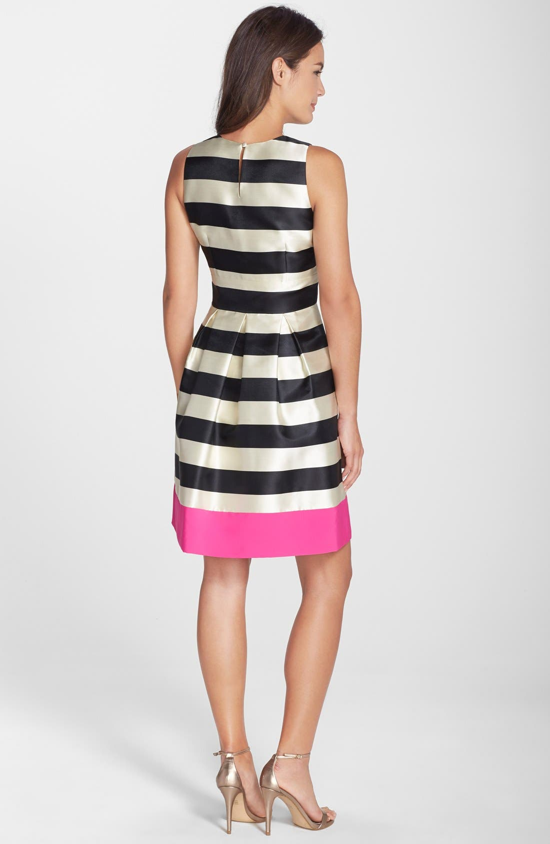 Alternate Image 2  - Eliza J Stripe Crepe Fit & Flare Dress