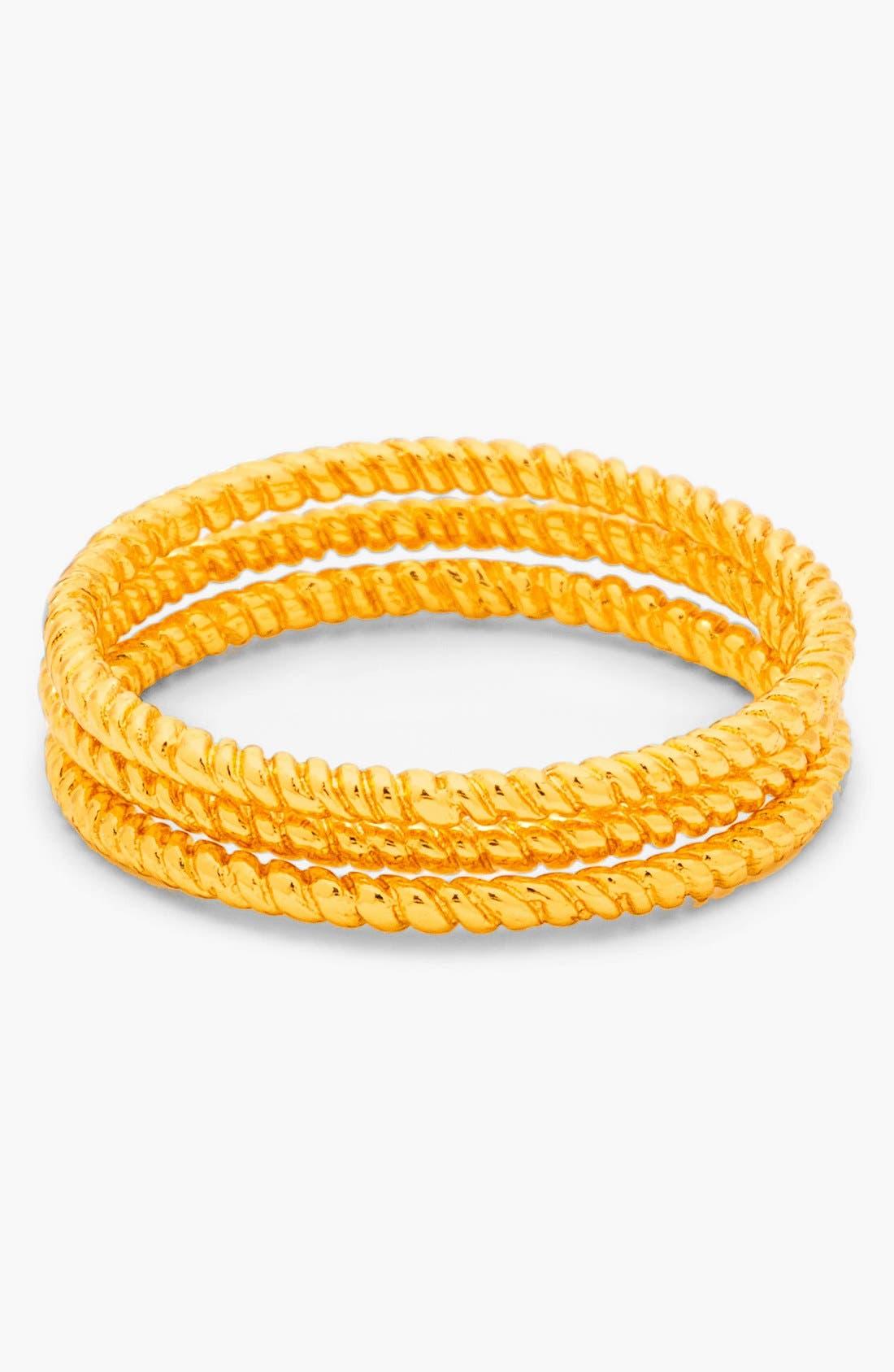 Alternate Image 1 Selected - gorjana Textured Rings (Set of 3)