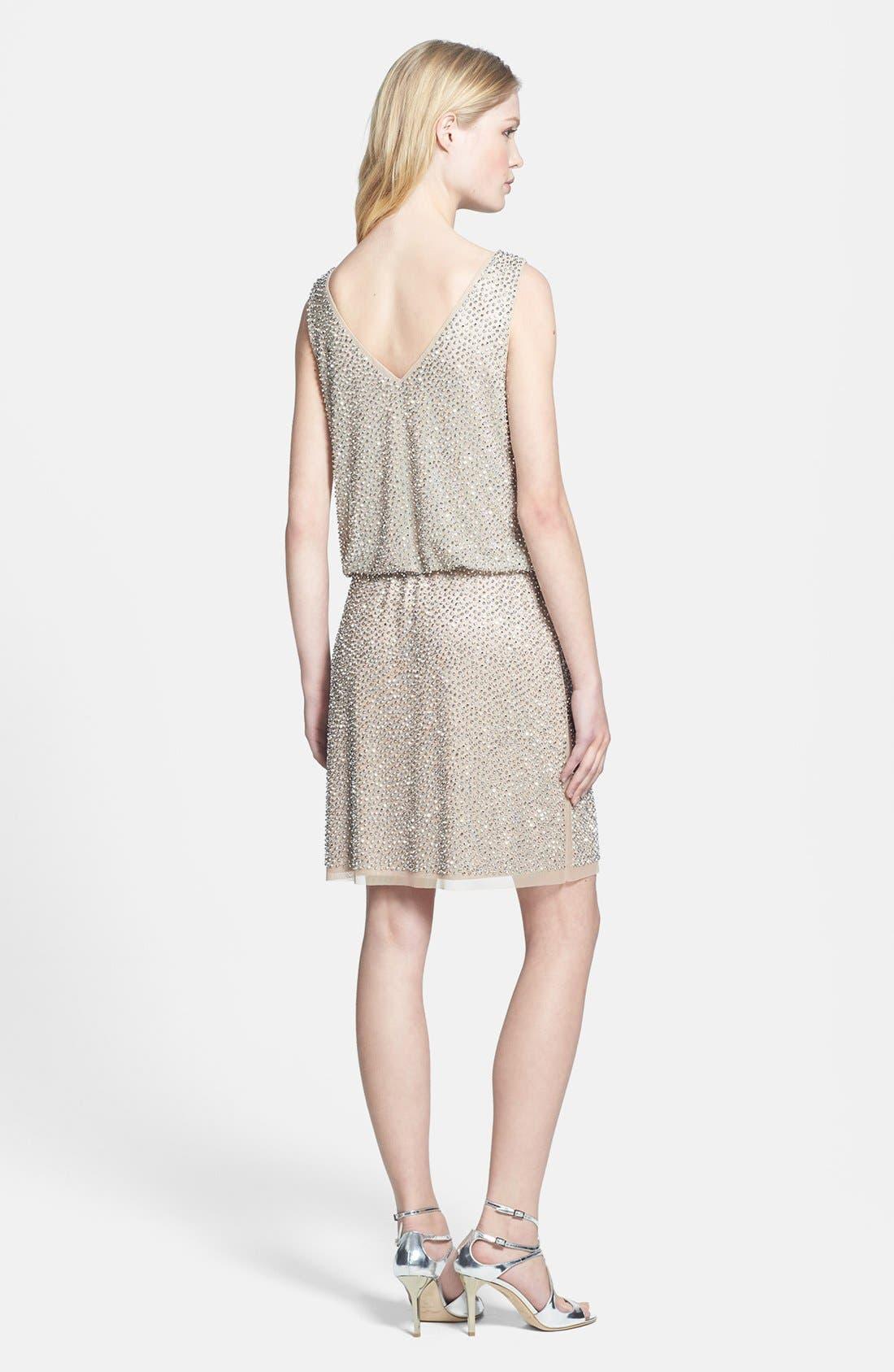 Alternate Image 2  - Xscape Beaded Blouson Dress