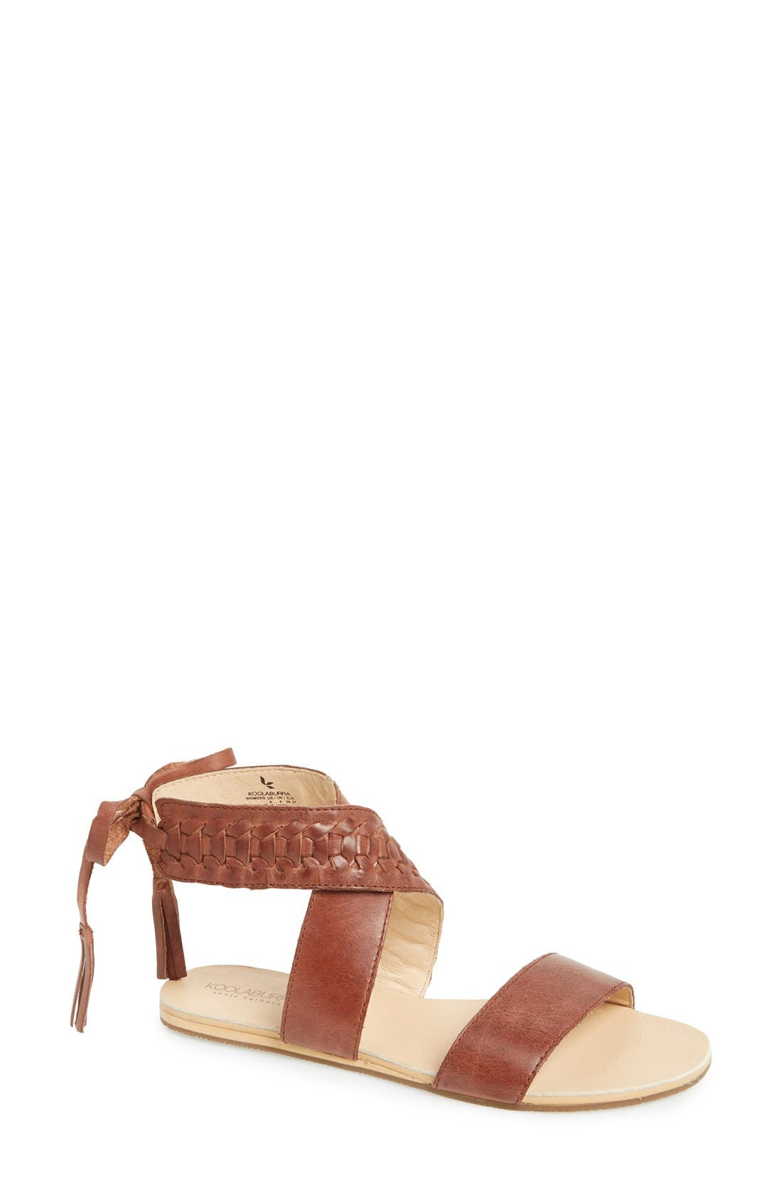 Main Image - Koolaburra 'Alexa' Leather Ankle Strap Sandal (Women)