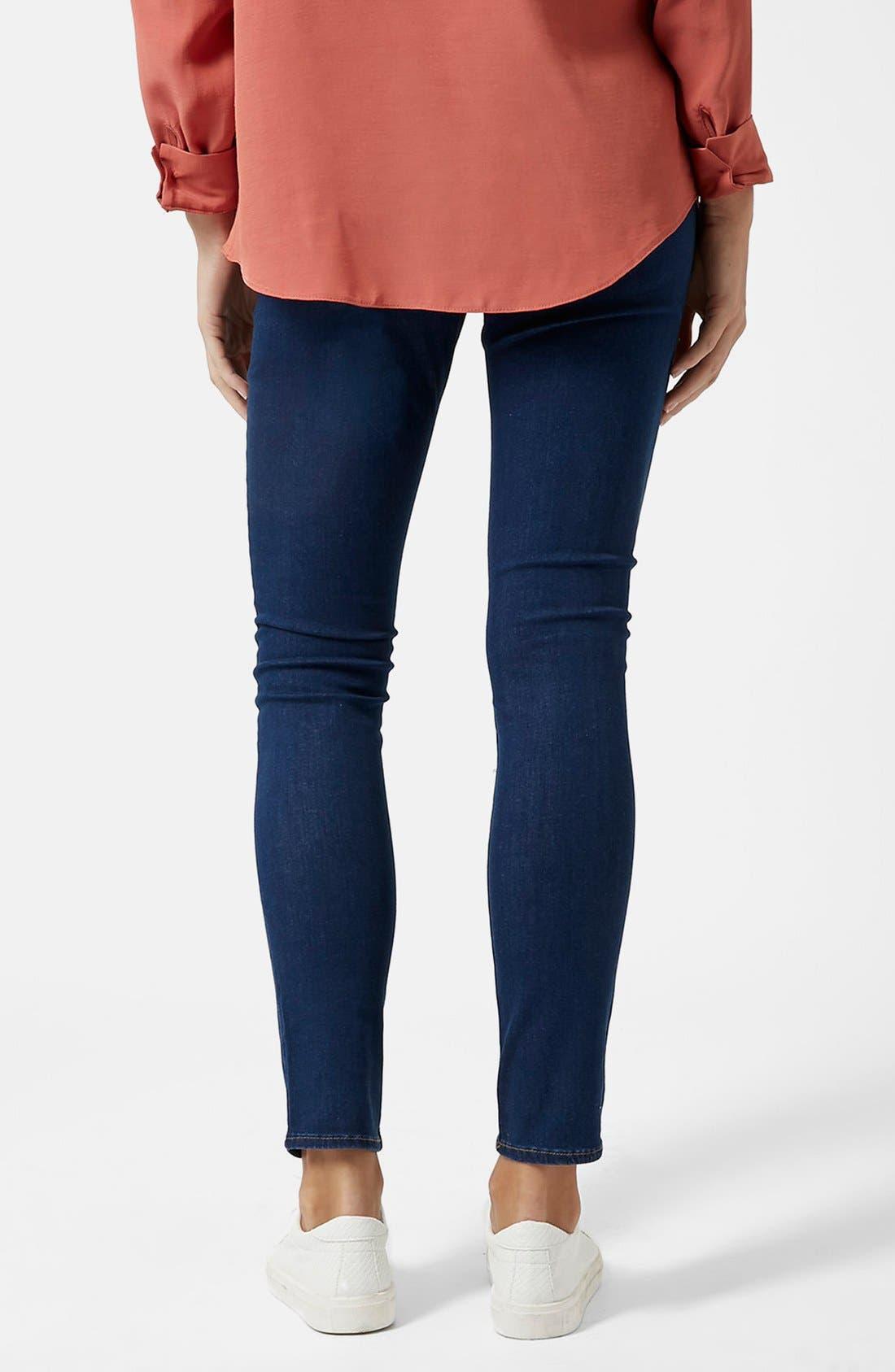 Alternate Image 2  - Topshop Moto 'Leigh' Maternity Skinny Jeans (Regular & Short)