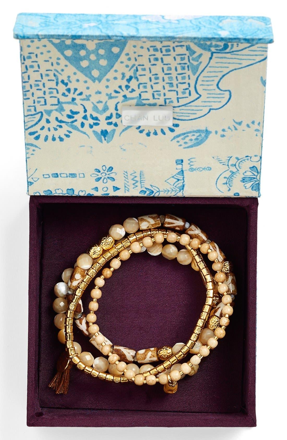 Alternate Image 2  - Chan Luu Beaded Stretch Bracelets (Set of 4)