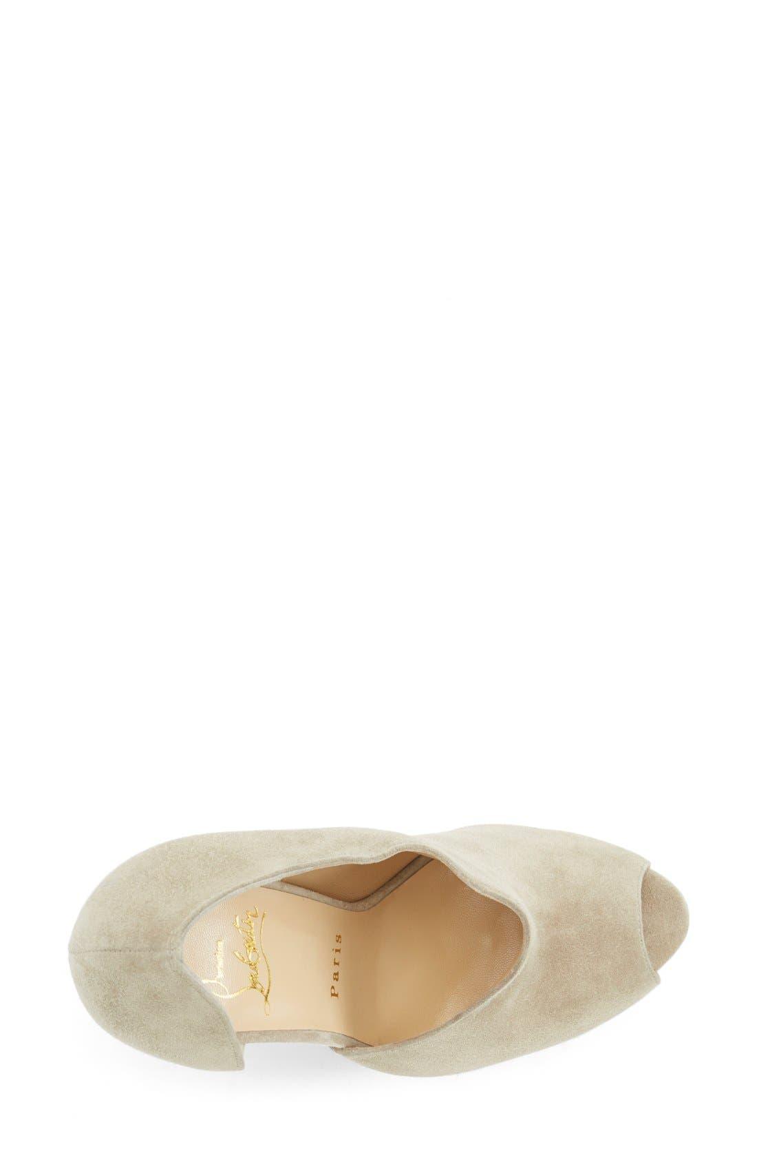 Alternate Image 3  - Christian Louboutin 'Verita' Cutout Platform Peep Toe Bootie