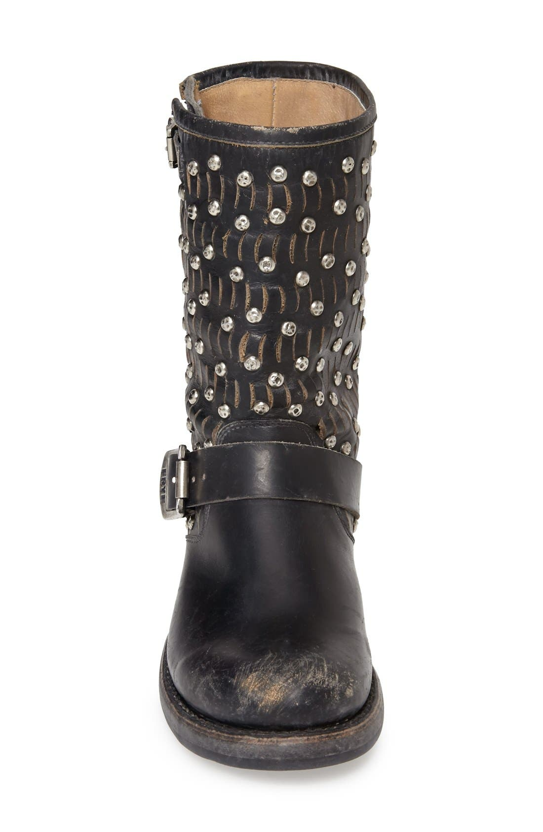 Alternate Image 3  - Frye 'Jenna Cut Stud' Short Moto Boot (Women)