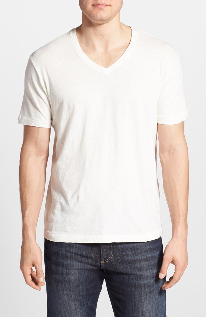 Lucky brand cotton v neck t shirt nordstrom for Branded v neck t shirts