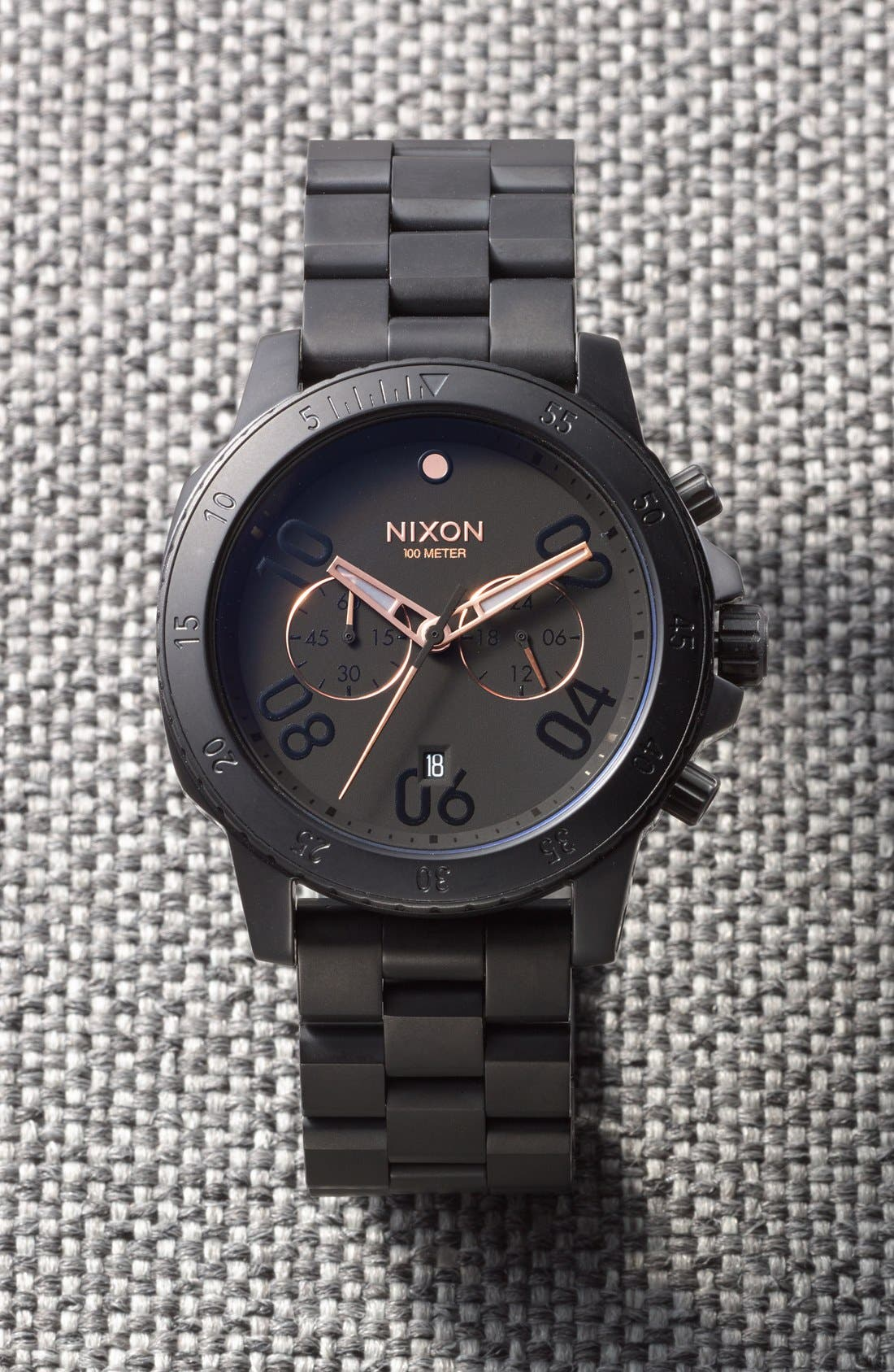 Alternate Image 4  - Nixon 'Ranger' Chronograph Bracelet Watch, 44mm