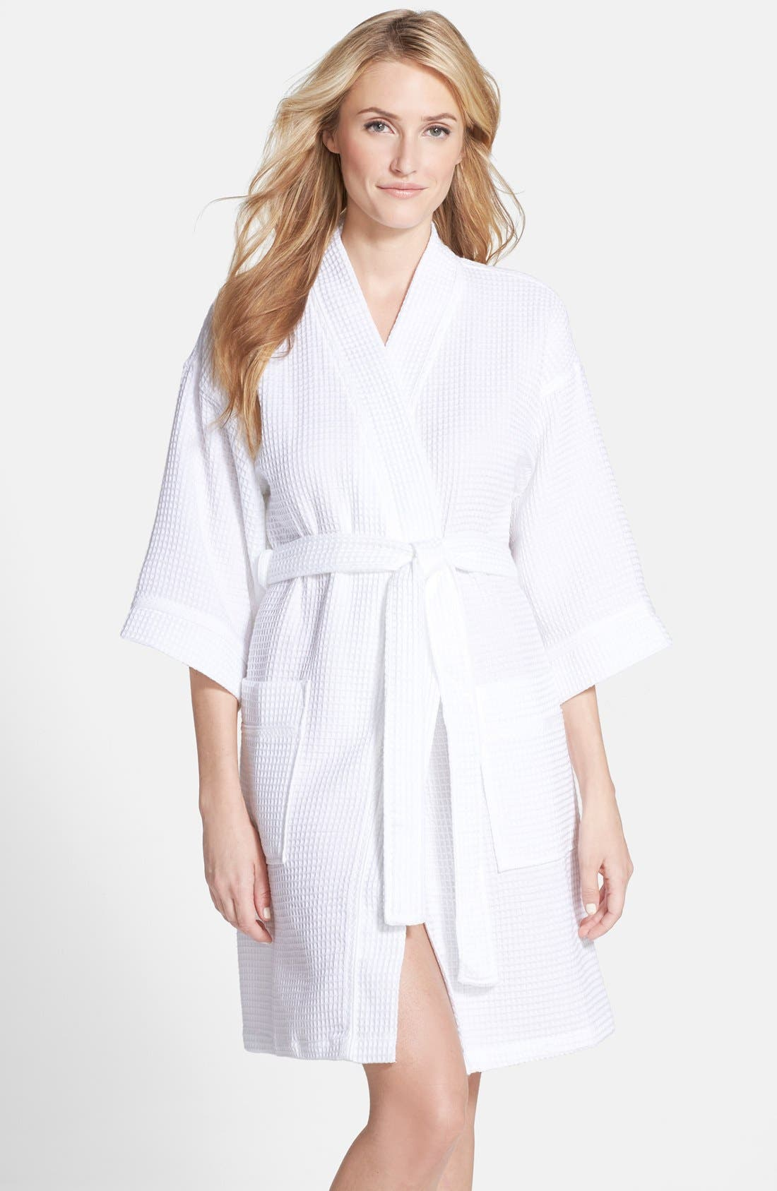 Alternate Image 1 Selected - Nordstrom Waffle Cotton Robe