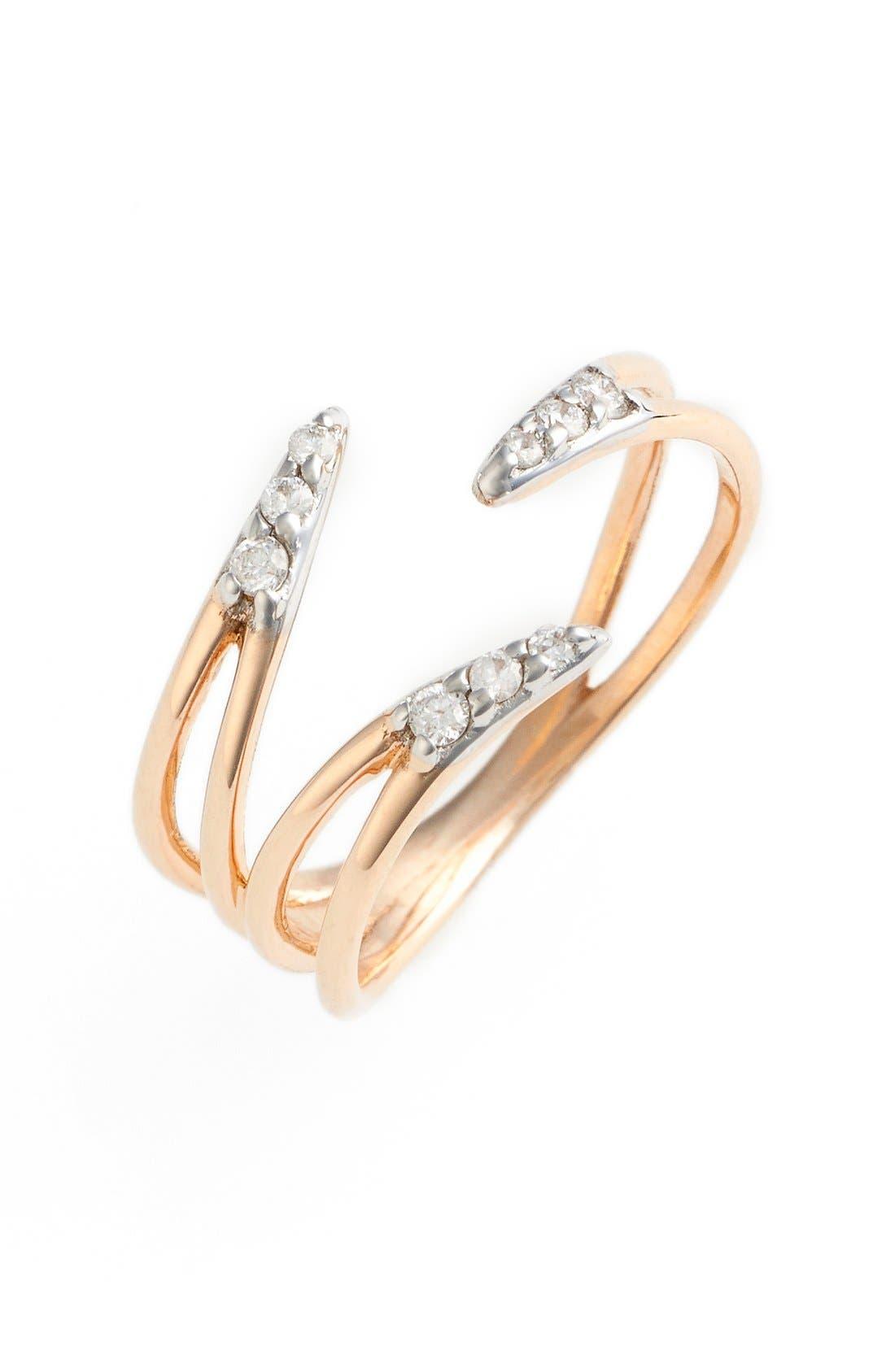 Alternate Image 1 Selected - kismet by milka 'Lumiere' Diamond Pinky Ring