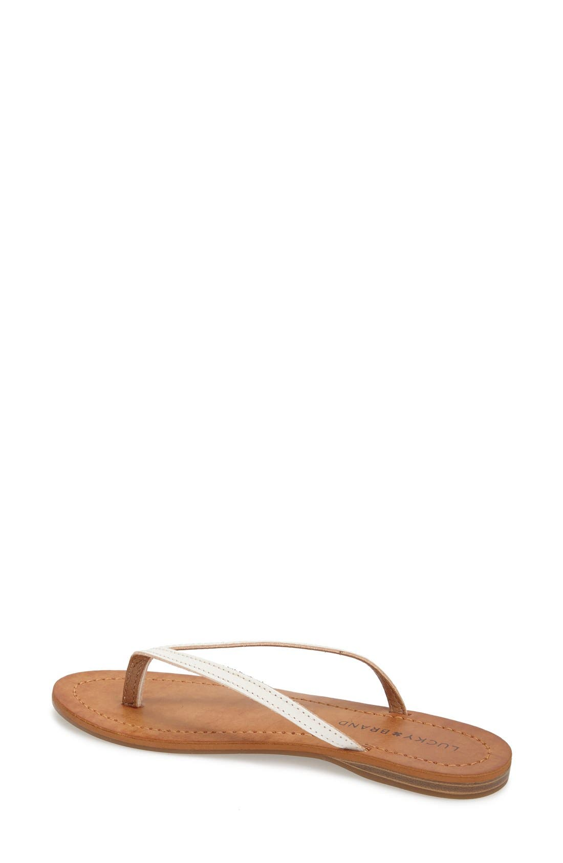Alternate Image 2  - Lucky Brand 'Amberr' Leather Thong Sandal (Women)