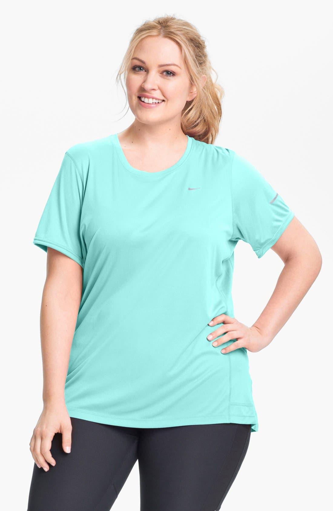 Main Image - Nike 'Miler' Short Sleeve Tee (Plus Size)