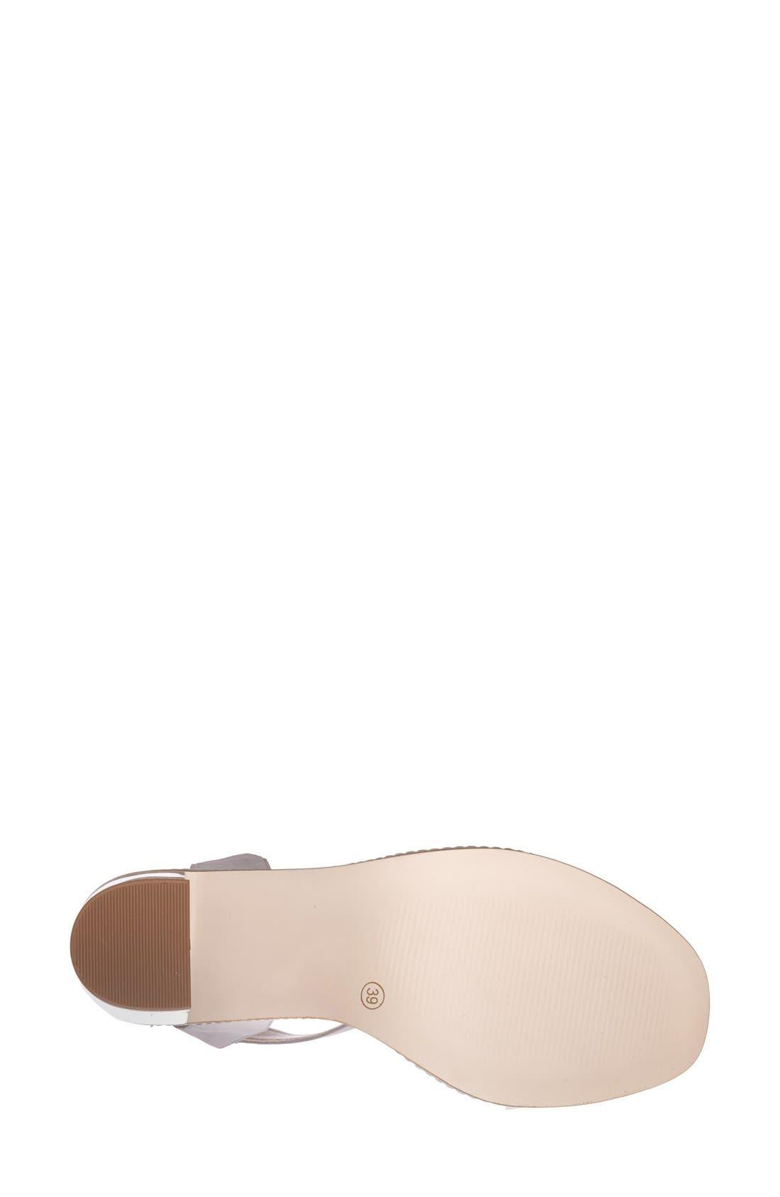 Alternate Image 4  - Topshop 'Reflect' Metallic Heel Leather Sandal (Women)