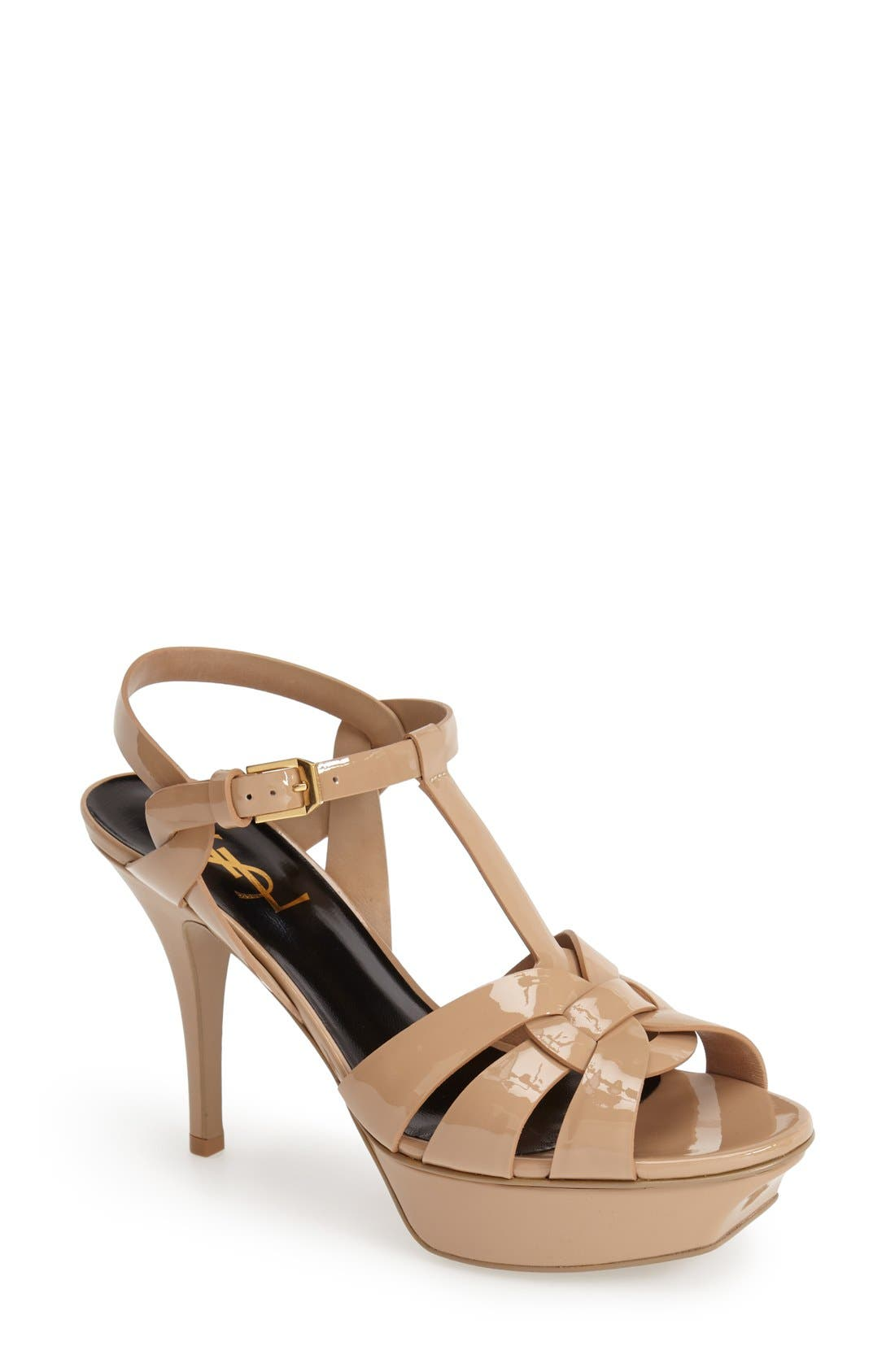 Alternate Image 1 Selected - Saint Laurent 'Tribute' T-Strap Sandal (Women)