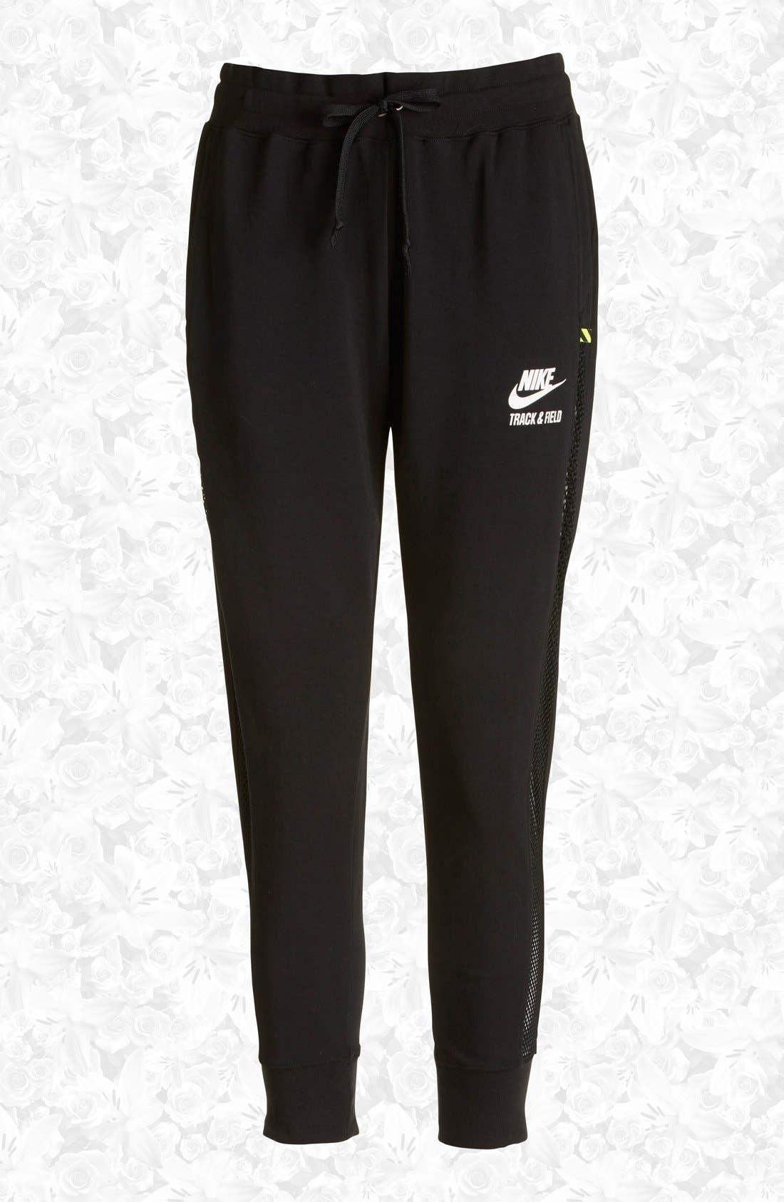 Main Image - Nike 'RU Mesh Mix' Cuffed Sweatpants (Women)