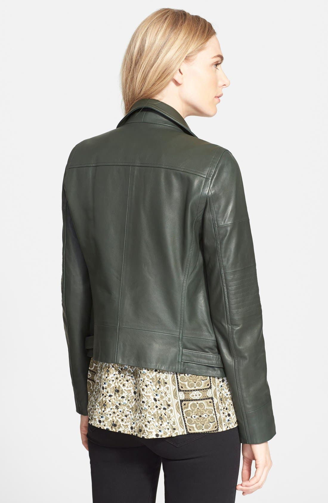Alternate Image 2  - Truth & Pride 'Luna' Leather Moto Jacket