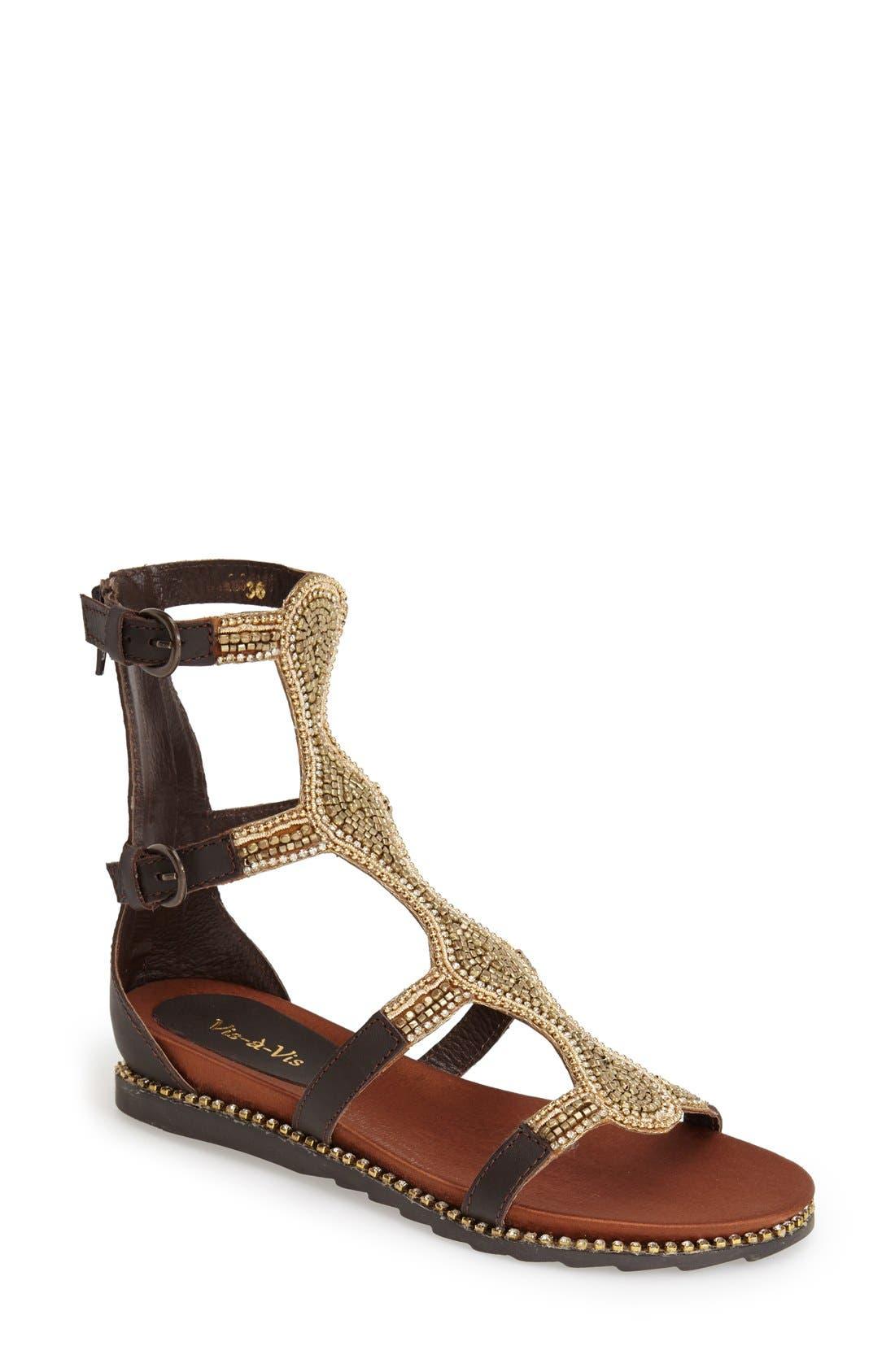 Main Image - Vis-à-Vis 'Vaun' Embellished Gladiator Sandal (Women)