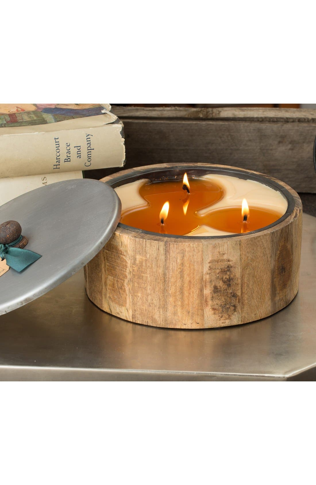 Alternate Image 2  - Himalayan Trading Post 'Wooden Barrel' Candle