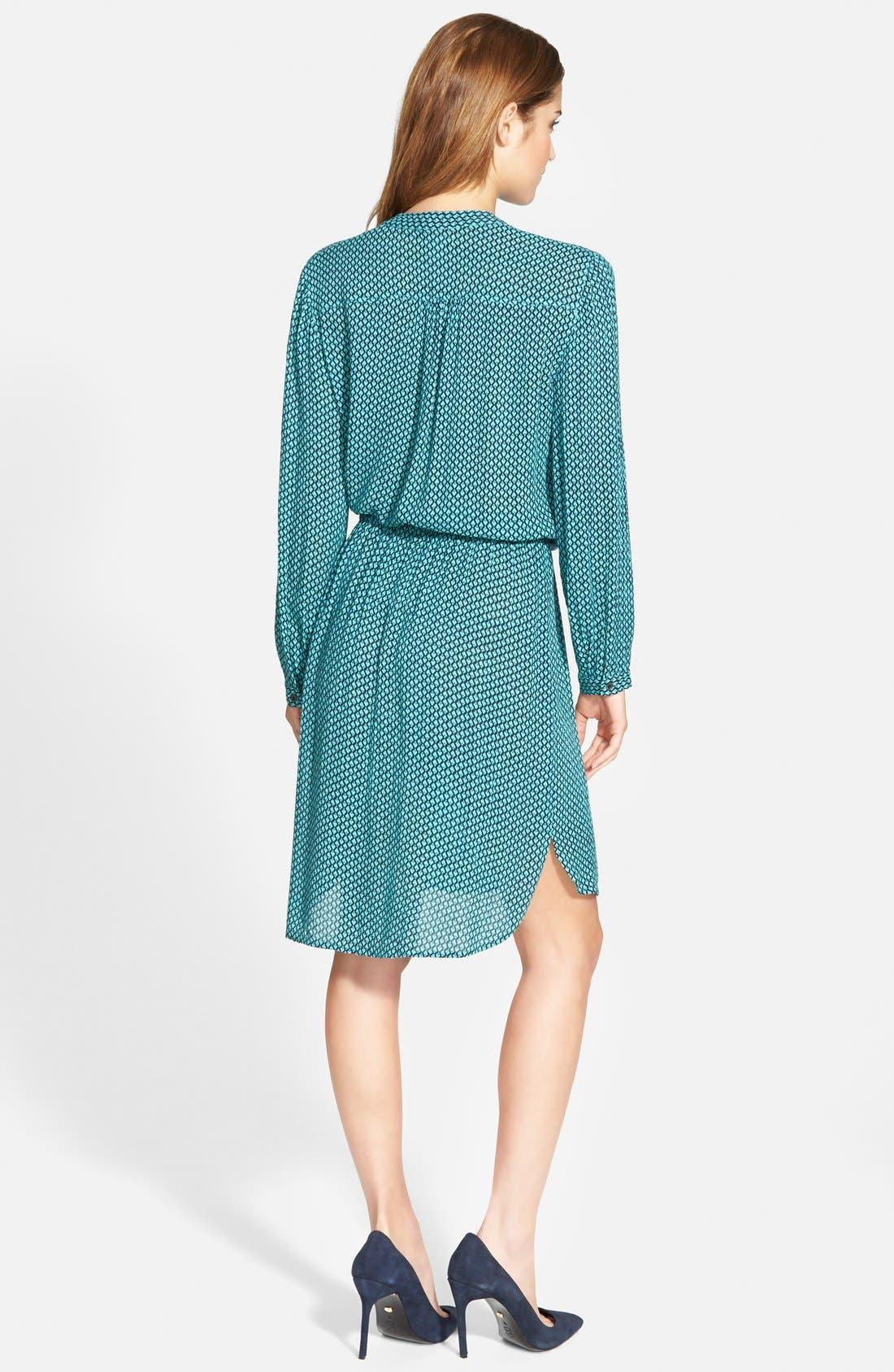 Alternate Image 2  - Caslon® Print Split Neck Shirtdress (Regular & Petite)