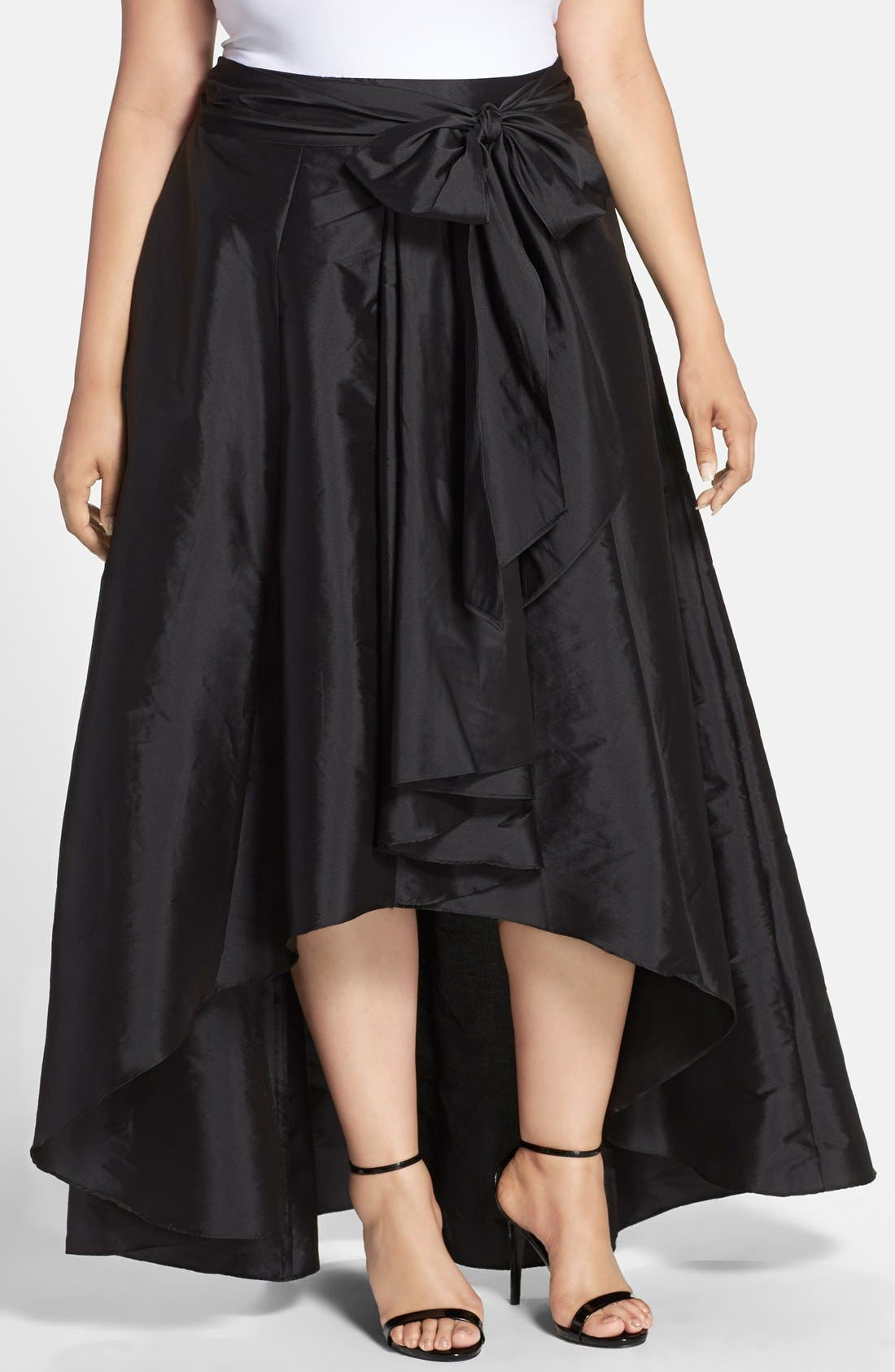 ADRIANNA PAPELL High/Low Taffeta Skirt