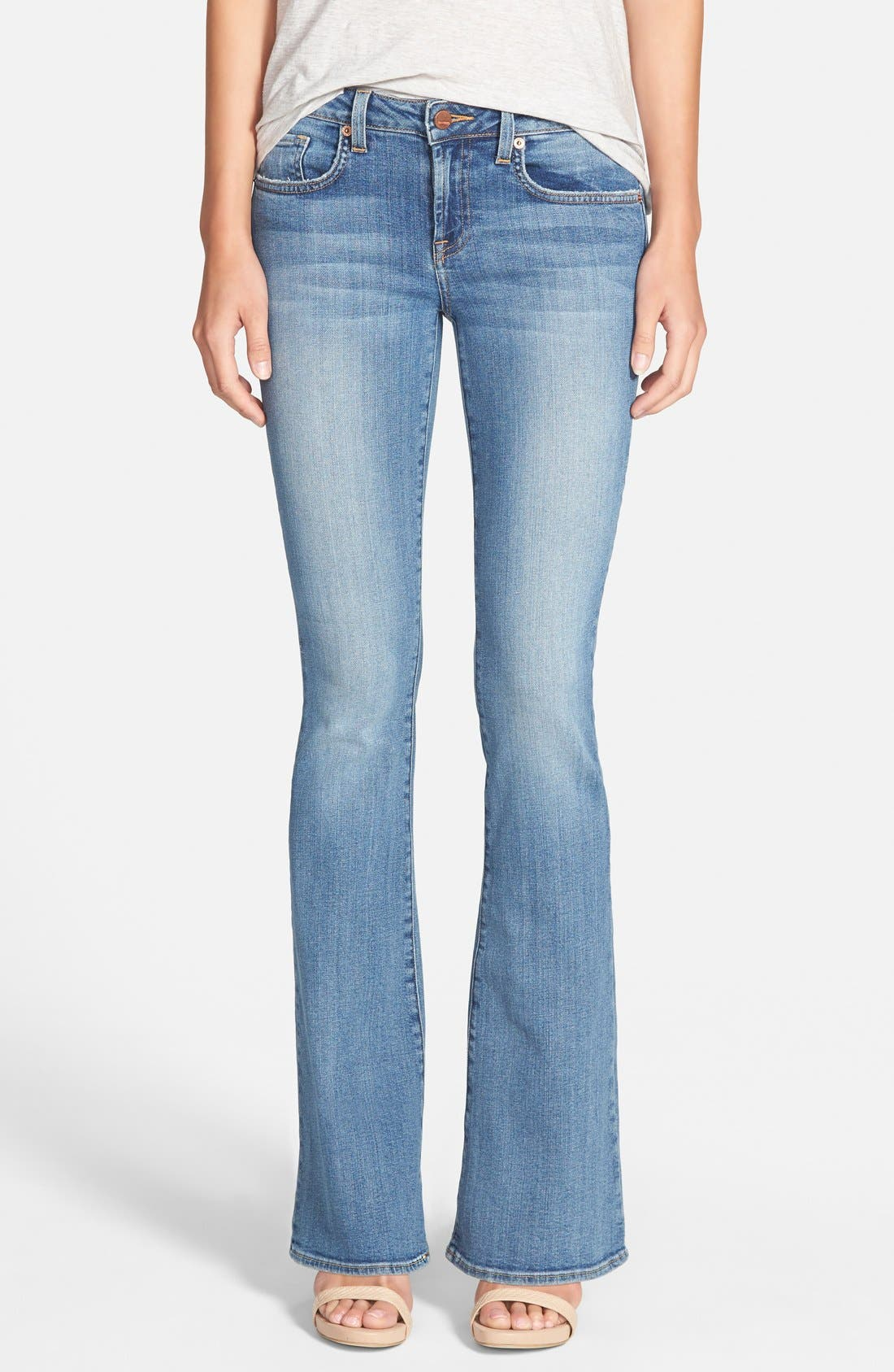 Main Image - Genetic 'Leaf' Low Rise Flare Jeans (Canyon)