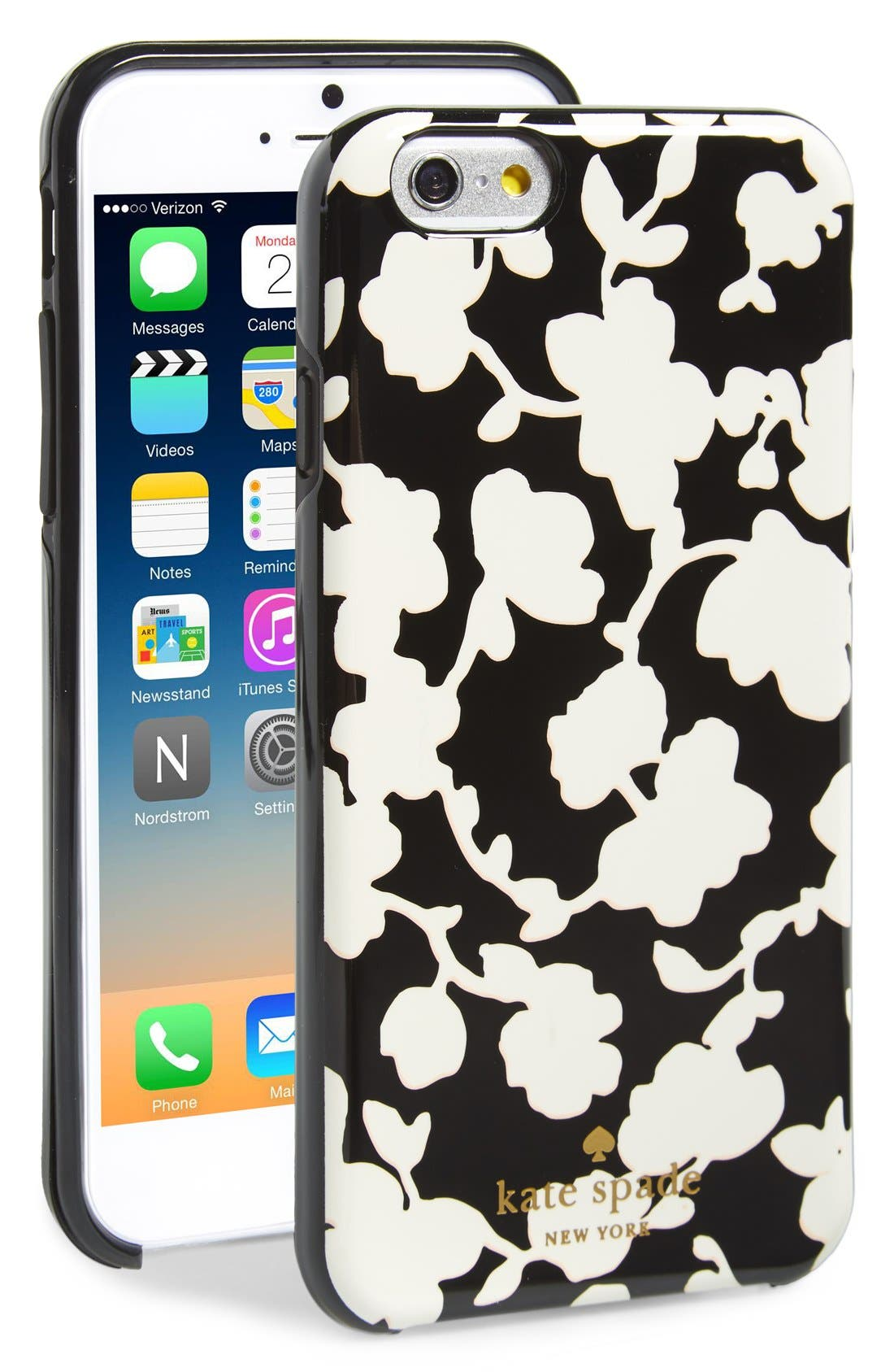 Alternate Image 1 Selected - kate spade new york 'graphic floral' iPhone 6 hard shell case