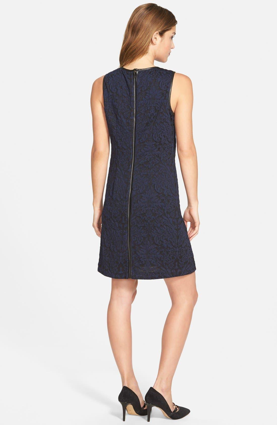 Alternate Image 2  - Vince Camuto Cotton Blend Jacquard A-Line Dress