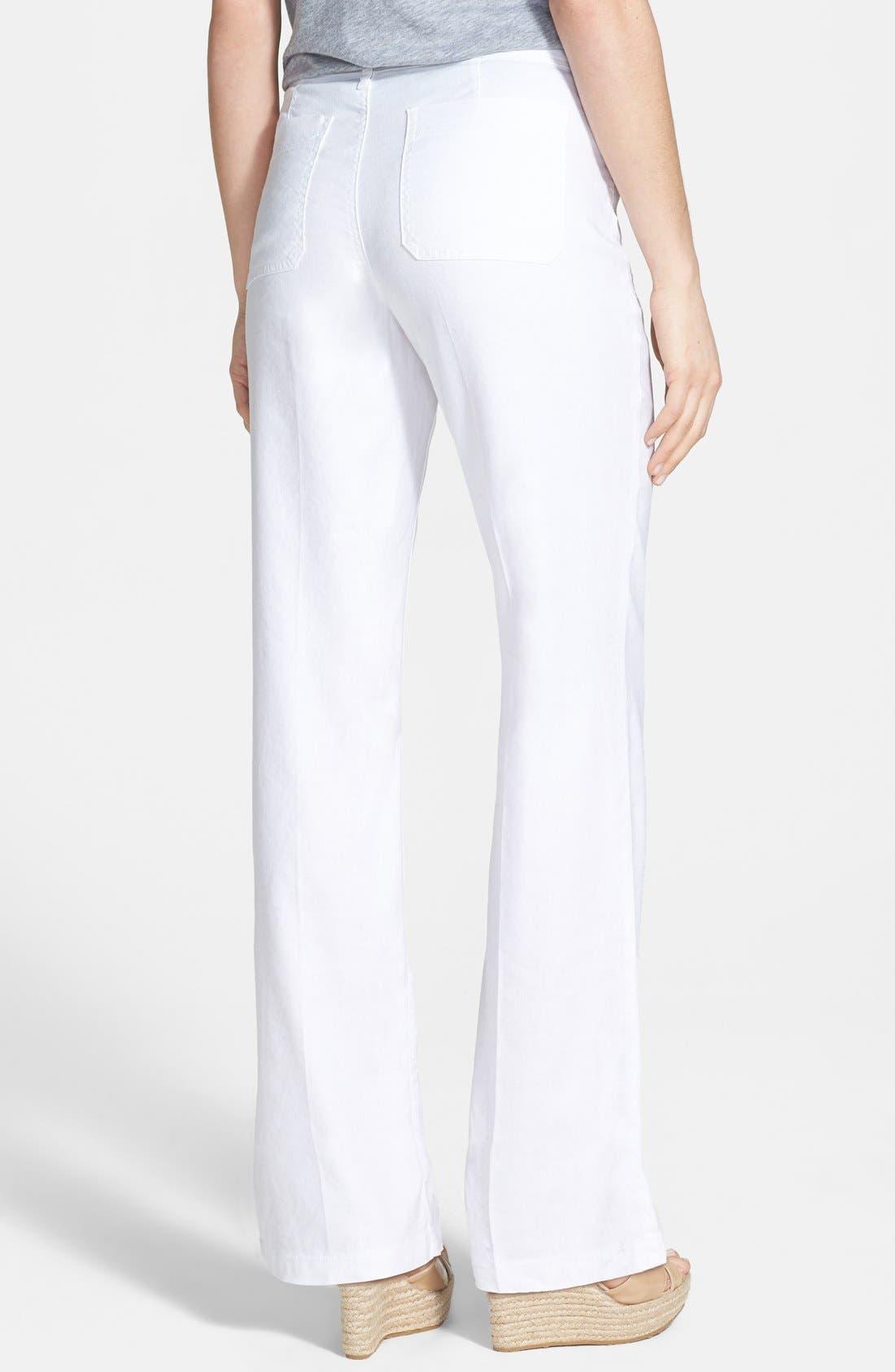 Alternate Image 2  - NYDJ 'Wylie' Stretch Linen Trousers (Plus Size)