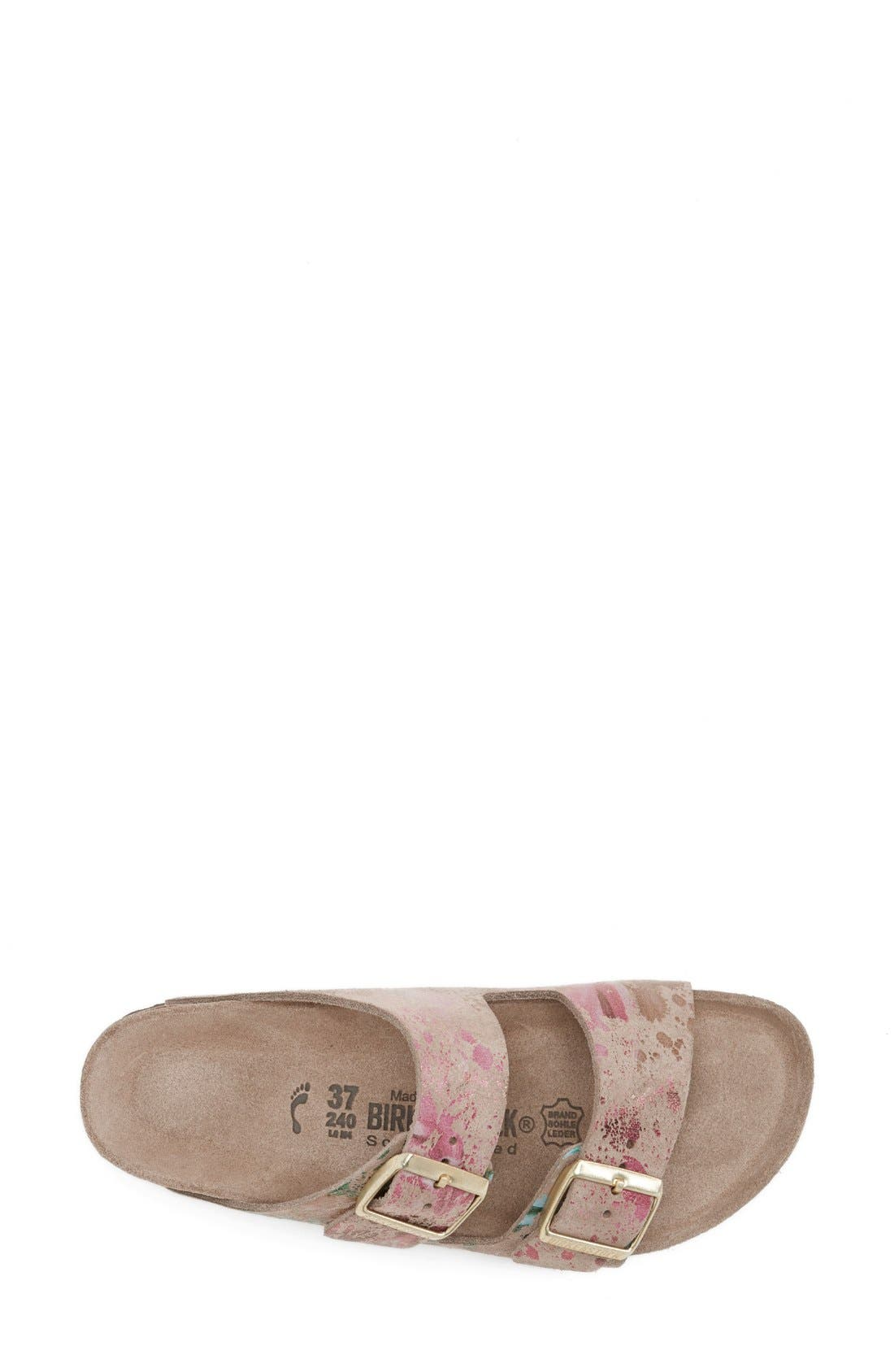 Alternate Image 3  - Birkenstock 'Arizona' Soft Footbed Printed Leather Sandal (Women)