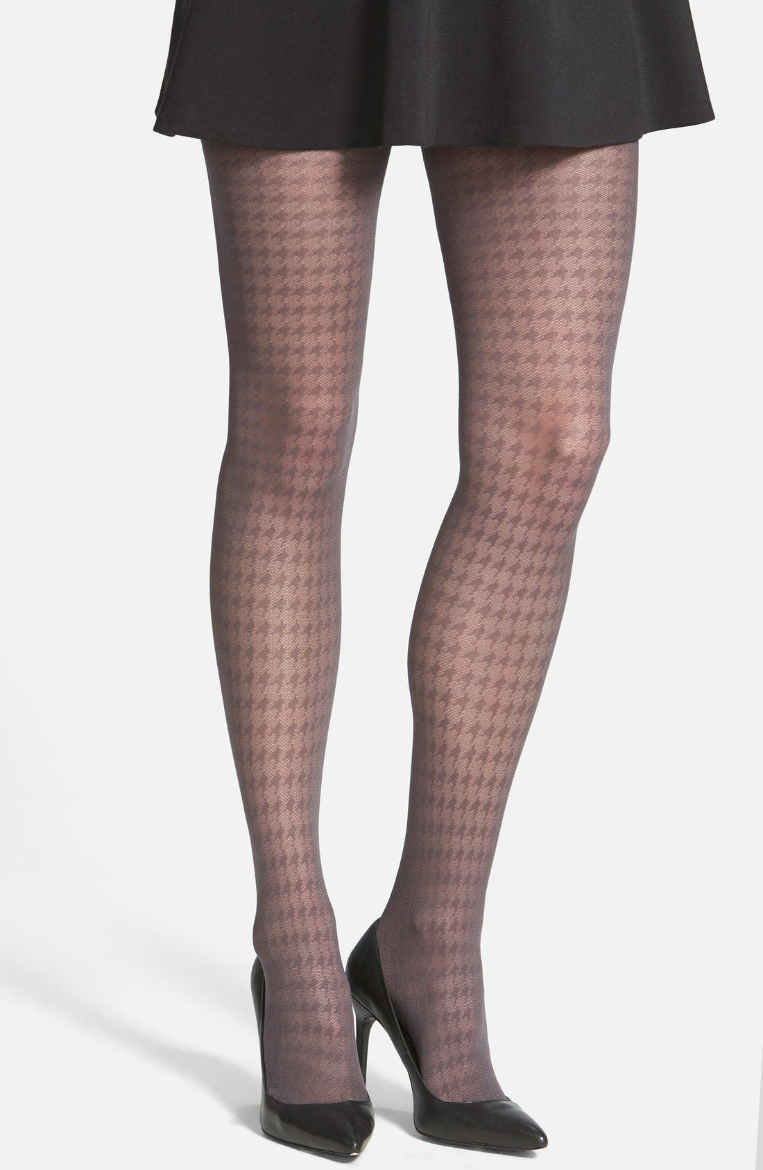 Alternate Image 1 Selected - Vince Camuto Houndstooth Tights (Online Only)