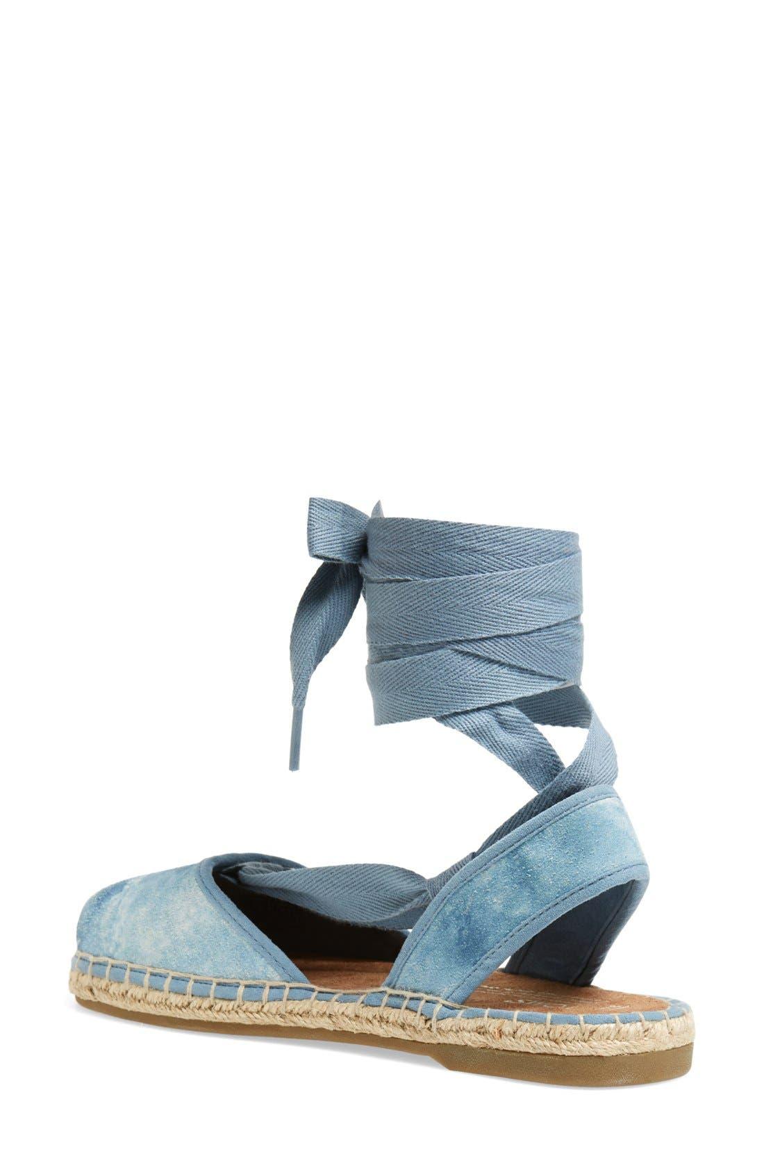 Alternate Image 2  - TOMS 'Bella' Washed Suede Lace-Up Espadrille Sandal (Women)