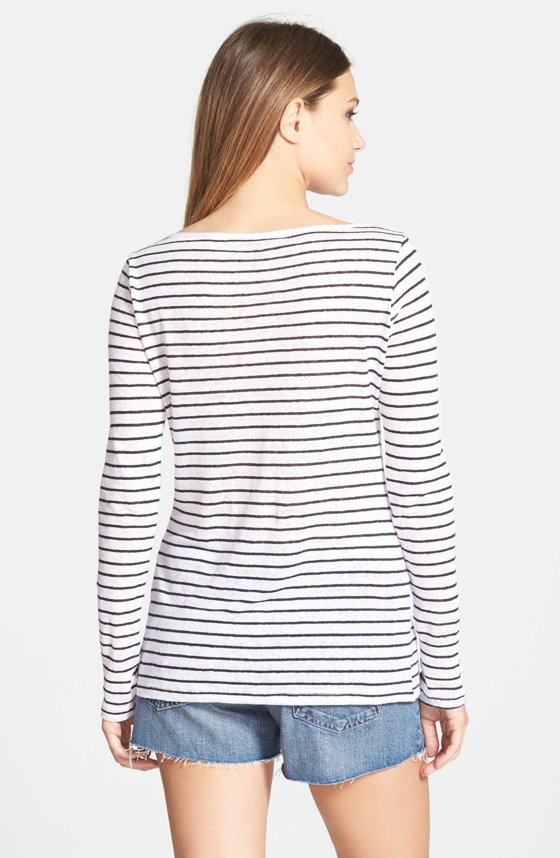 Alternate Image 2  - Amour Vert 'Stassi' Stripe Long Sleeve Tee