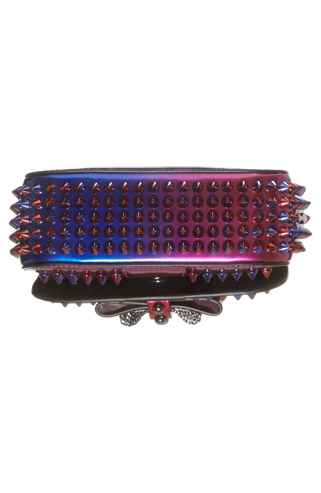 Alternate Image 6  - Christian Louboutin 'Sweety Charity Scarab Spike' Patent Leather Clutch