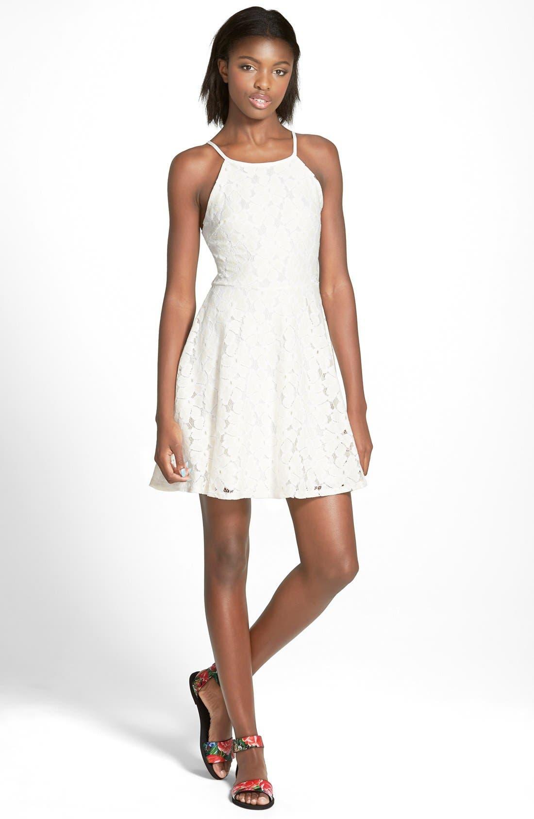 Alternate Image 1 Selected - dee elle Lace Skater Skirt