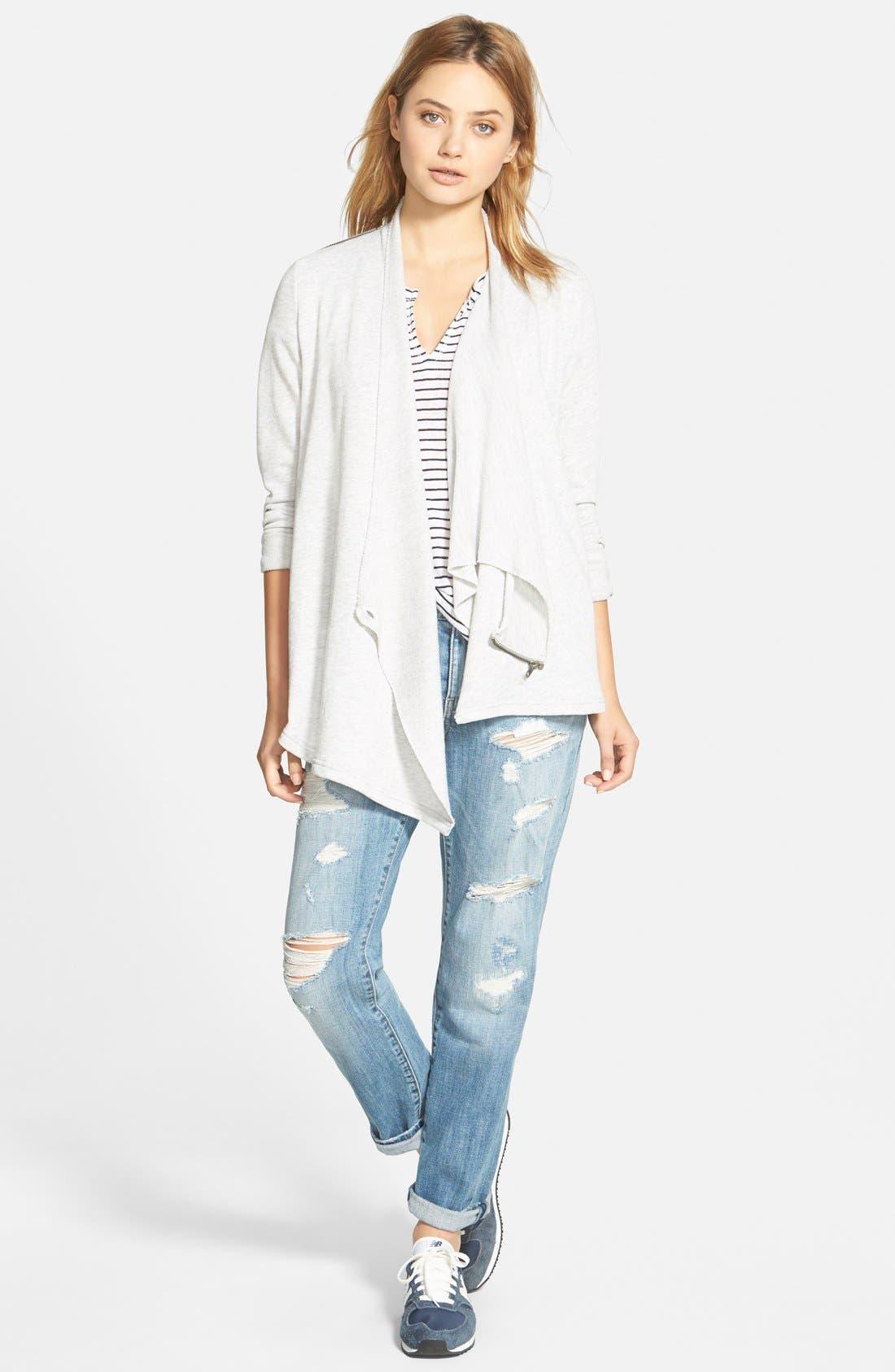 Alternate Image 3  - Stem Shoulder Zip Cardigan