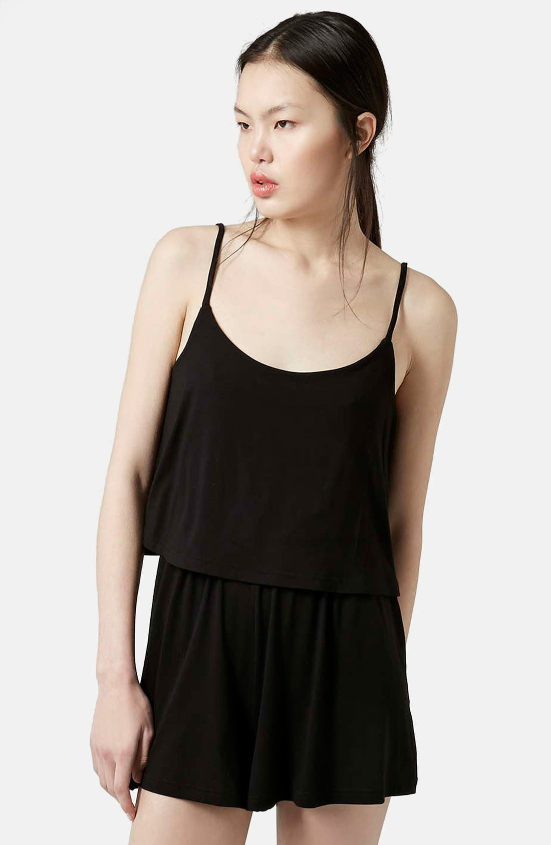Alternate Image 1 Selected - Topshop Overlay Jersey Romper