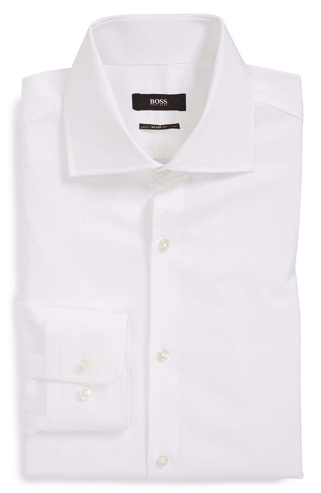 Main Image - BOSS 'Miles' Sharp Fit Piqué Dress Shirt