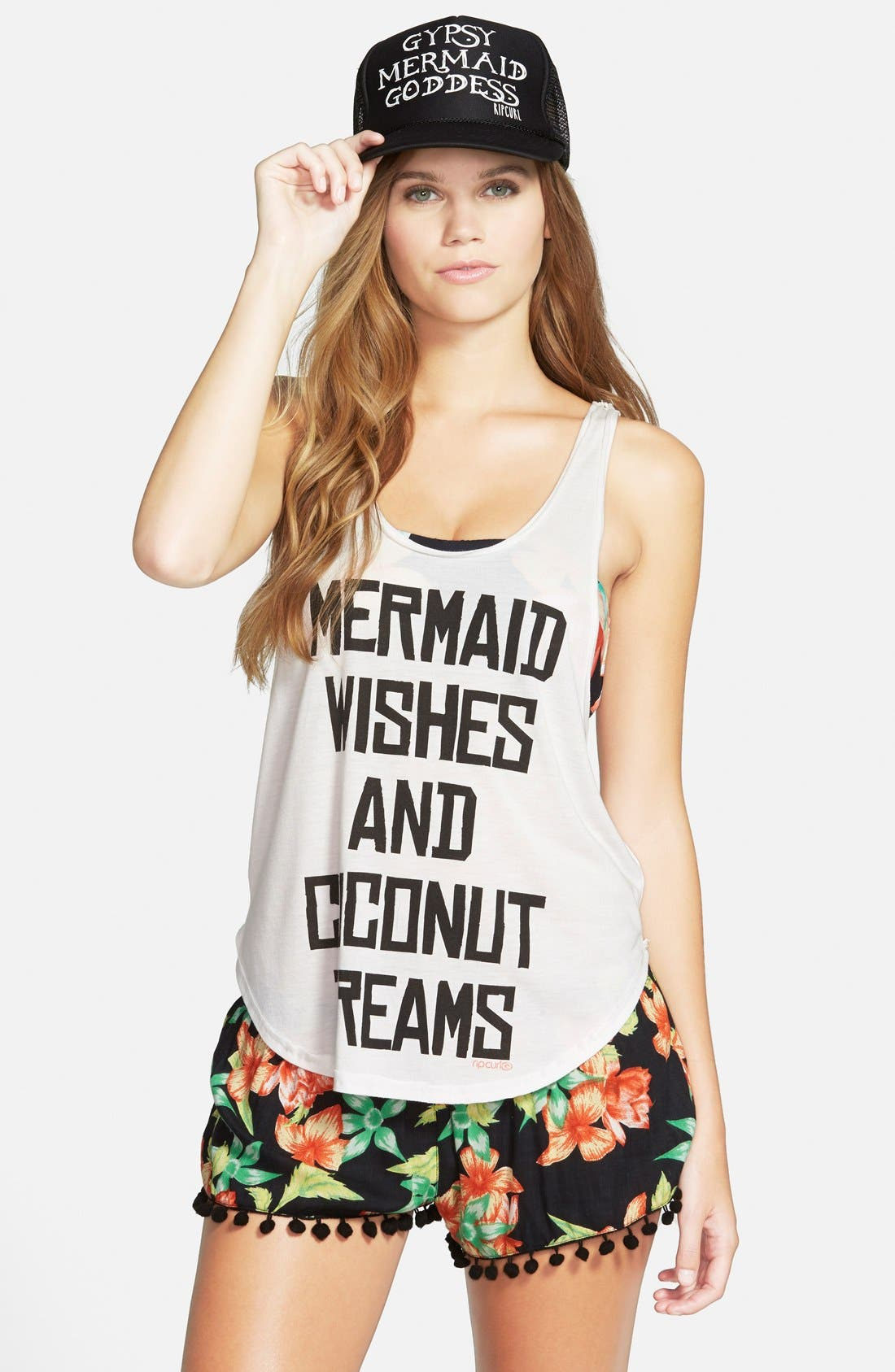 Alternate Image 1 Selected - Rip Curl 'Mermaid Wishes' Graphic Racerback Tank