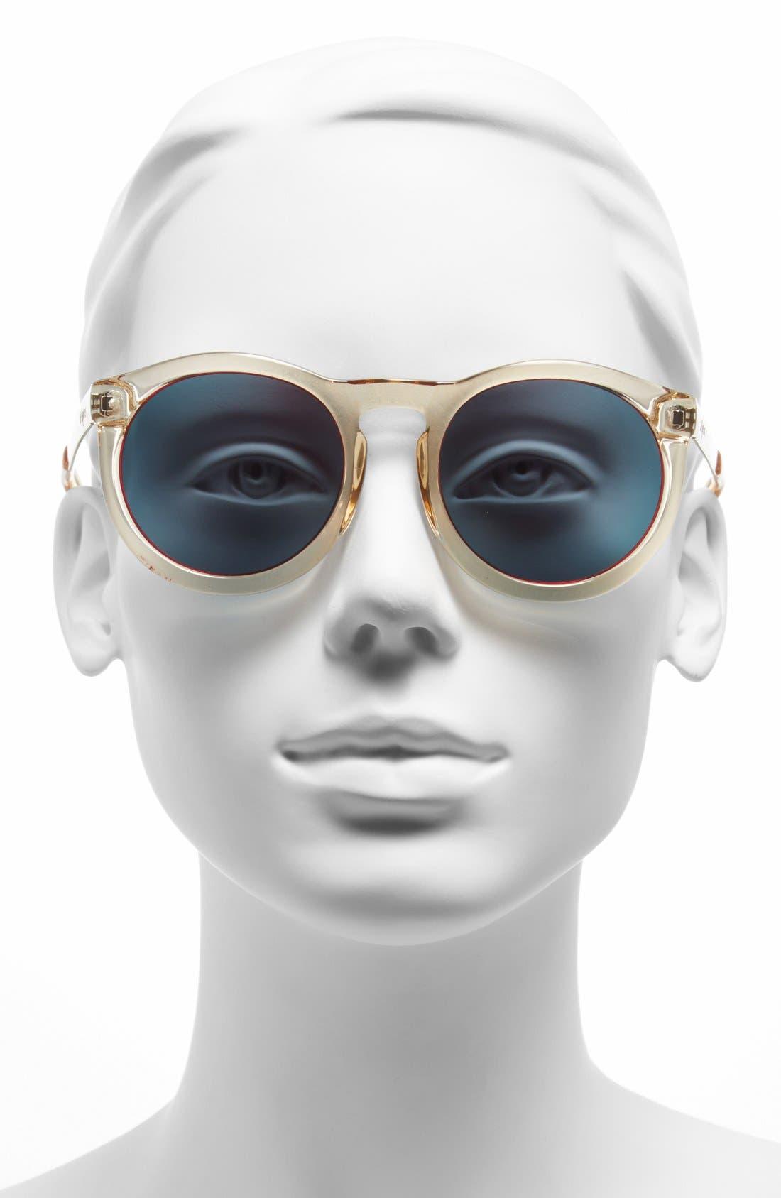 Alternate Image 2  - Le Specs 'Cheshire' 49mm Round Retro Sunglasses