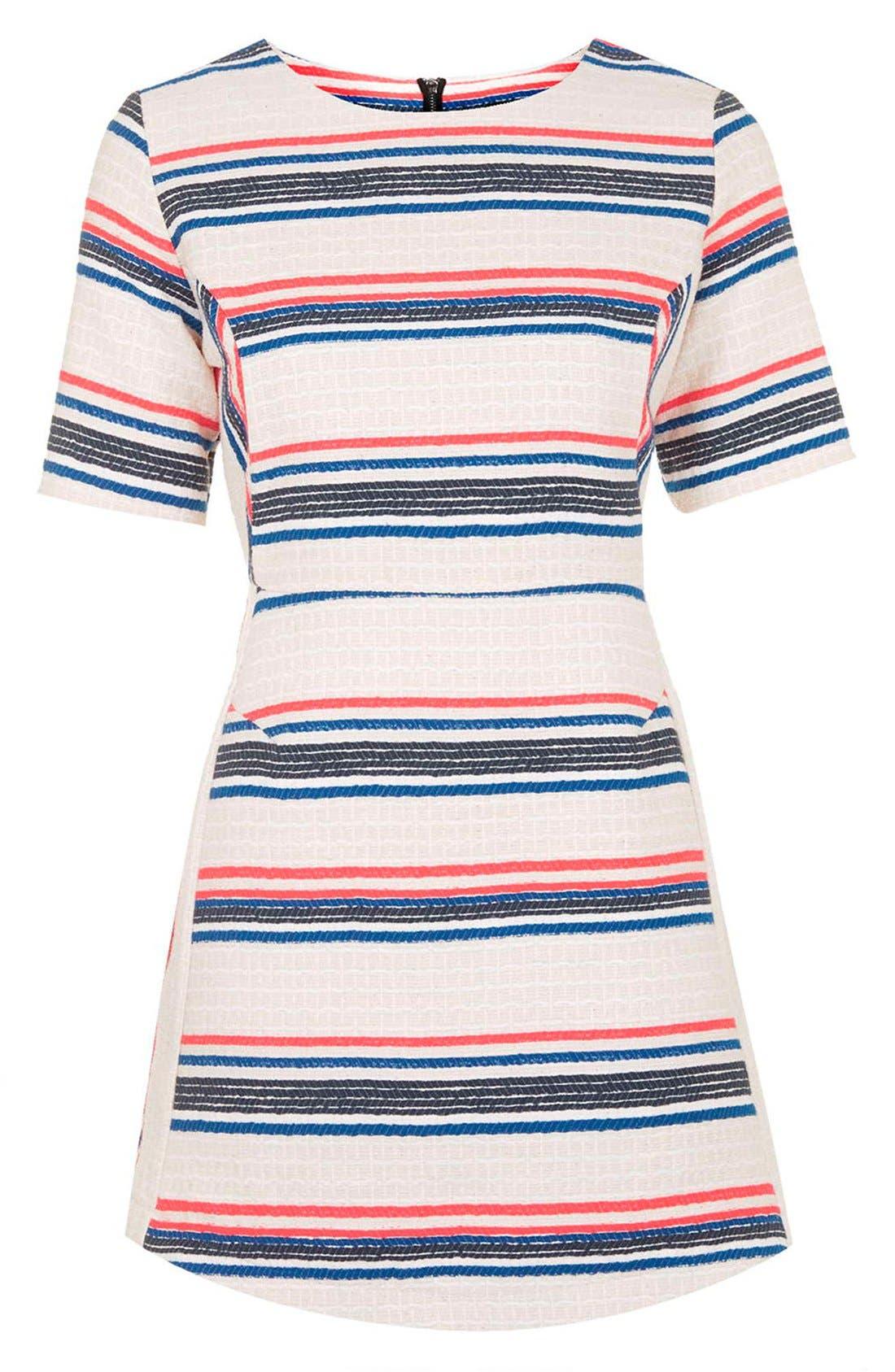 Alternate Image 3  - Topshop Stripe Jacquard A-Line Dress (Regular & Petite)
