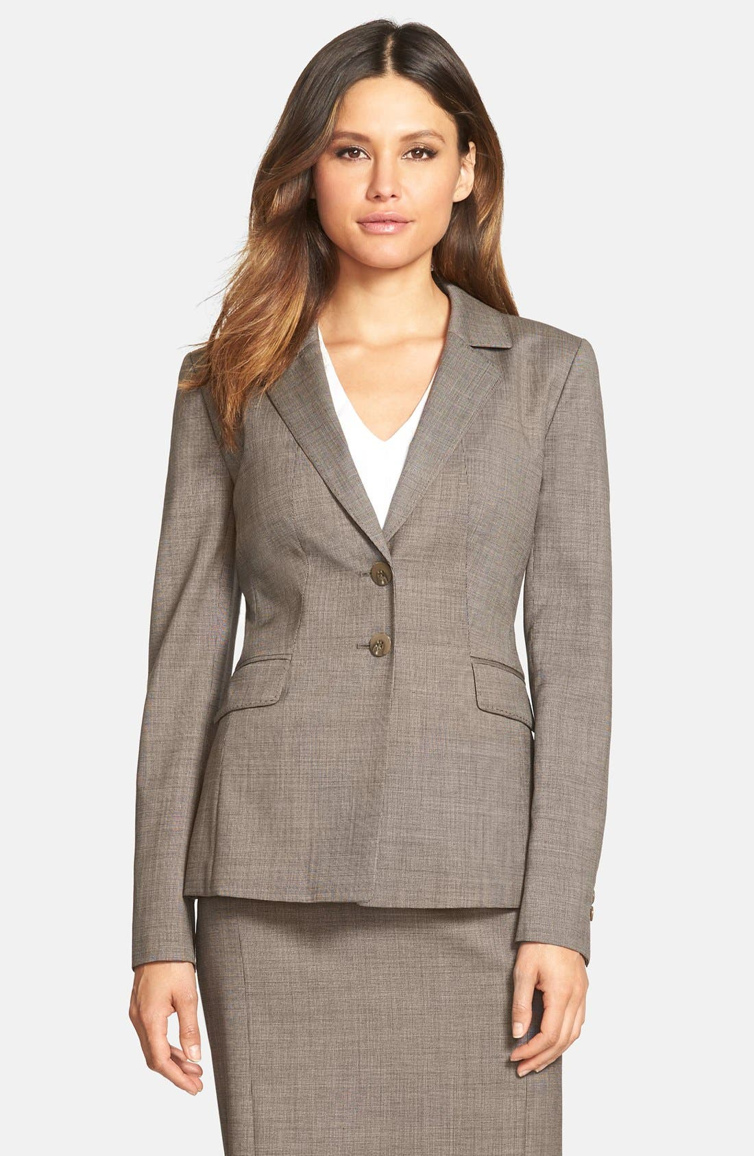 Main Image - Classiques Entier® 'Highland' Wool Suiting Jacket (Regular & Petite)