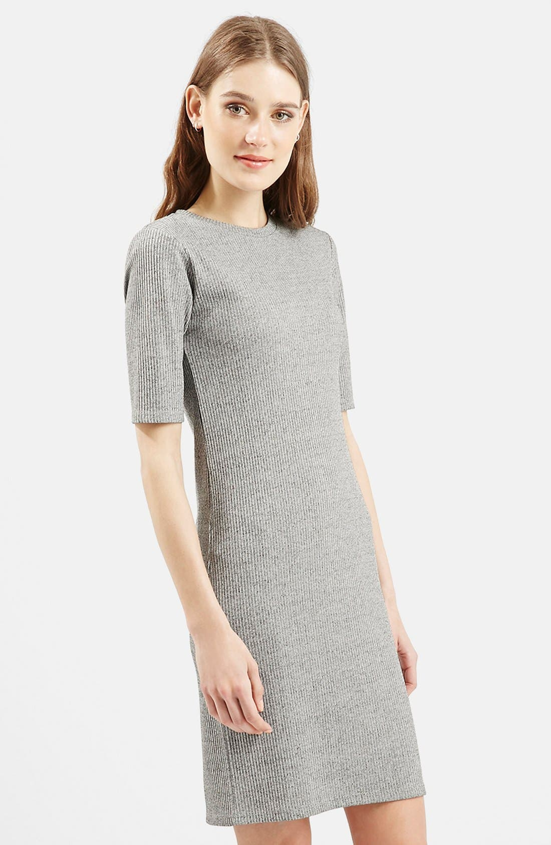 Alternate Image 5  - Topshop Half Sleeve Ribbed Body-Con Dress