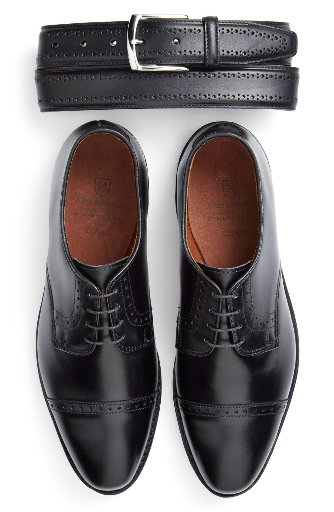 Alternate Image 3  - Allen Edmonds Manistee Brogue Leather Belt