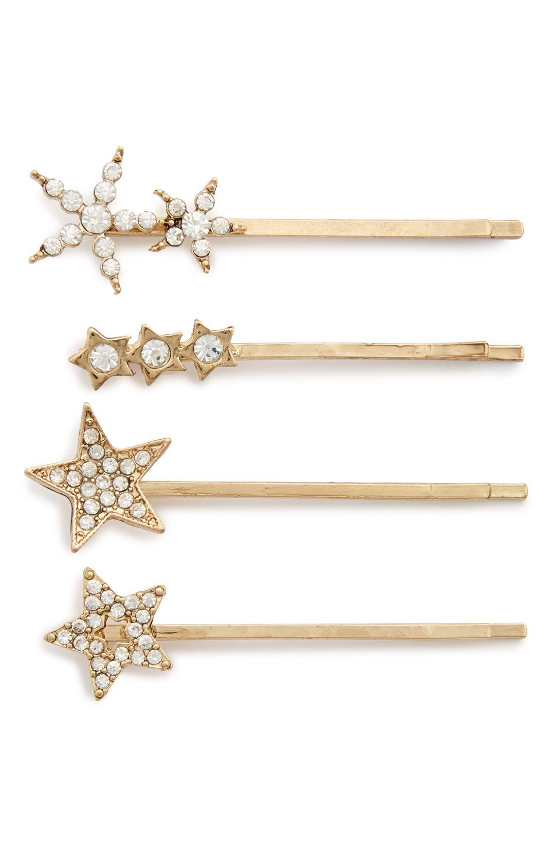 Alternate Image 1 Selected - Tasha 'Crystal Stars' Bobby Pins (Set of 4)