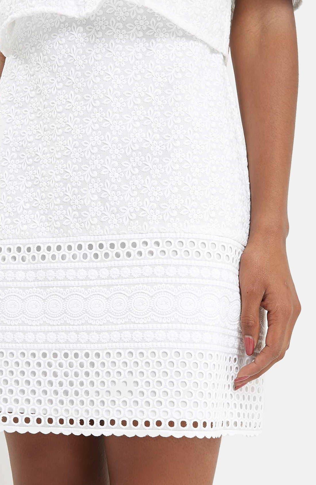 Alternate Image 4  - Topshop Embroidered Off the Shoulder Dress