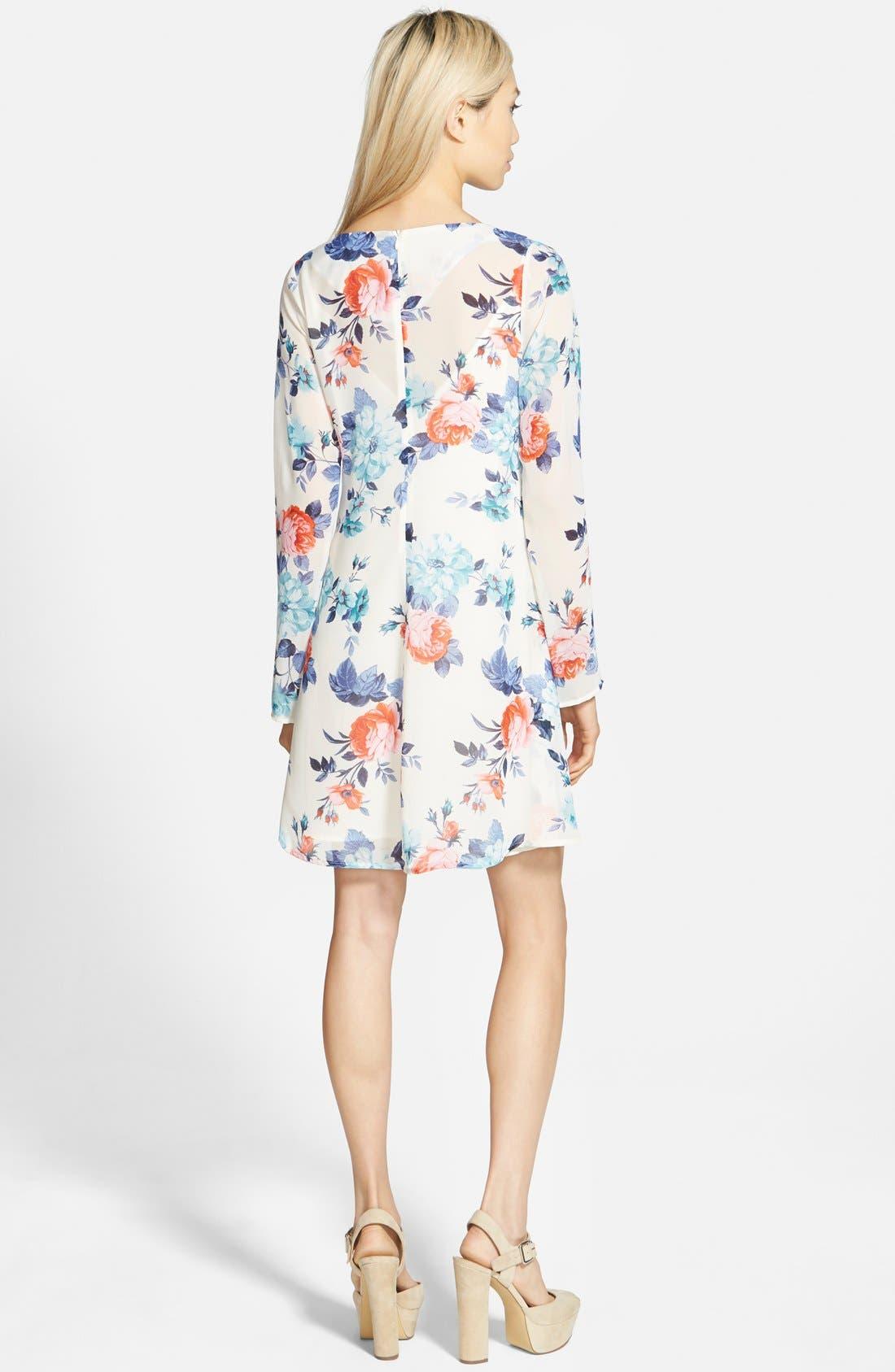 Alternate Image 2  - Floral Print Swing Dress