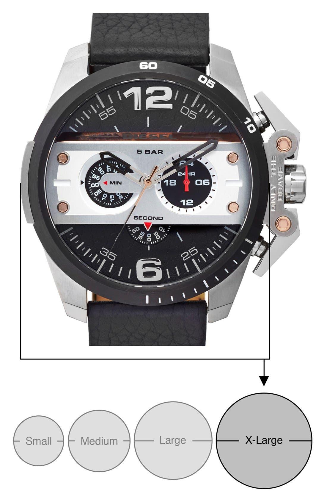 Alternate Image 4  - DIESEL® 'Ironside' Chronograph Watch, 48mm