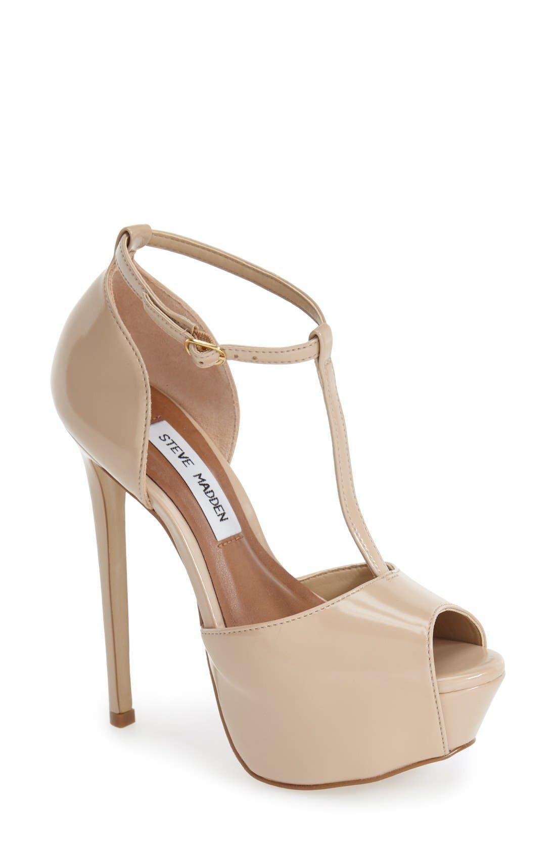 Alternate Image 1 Selected - Steve Madden 'Kriminal' T-Strap Platform Sandal (Women)