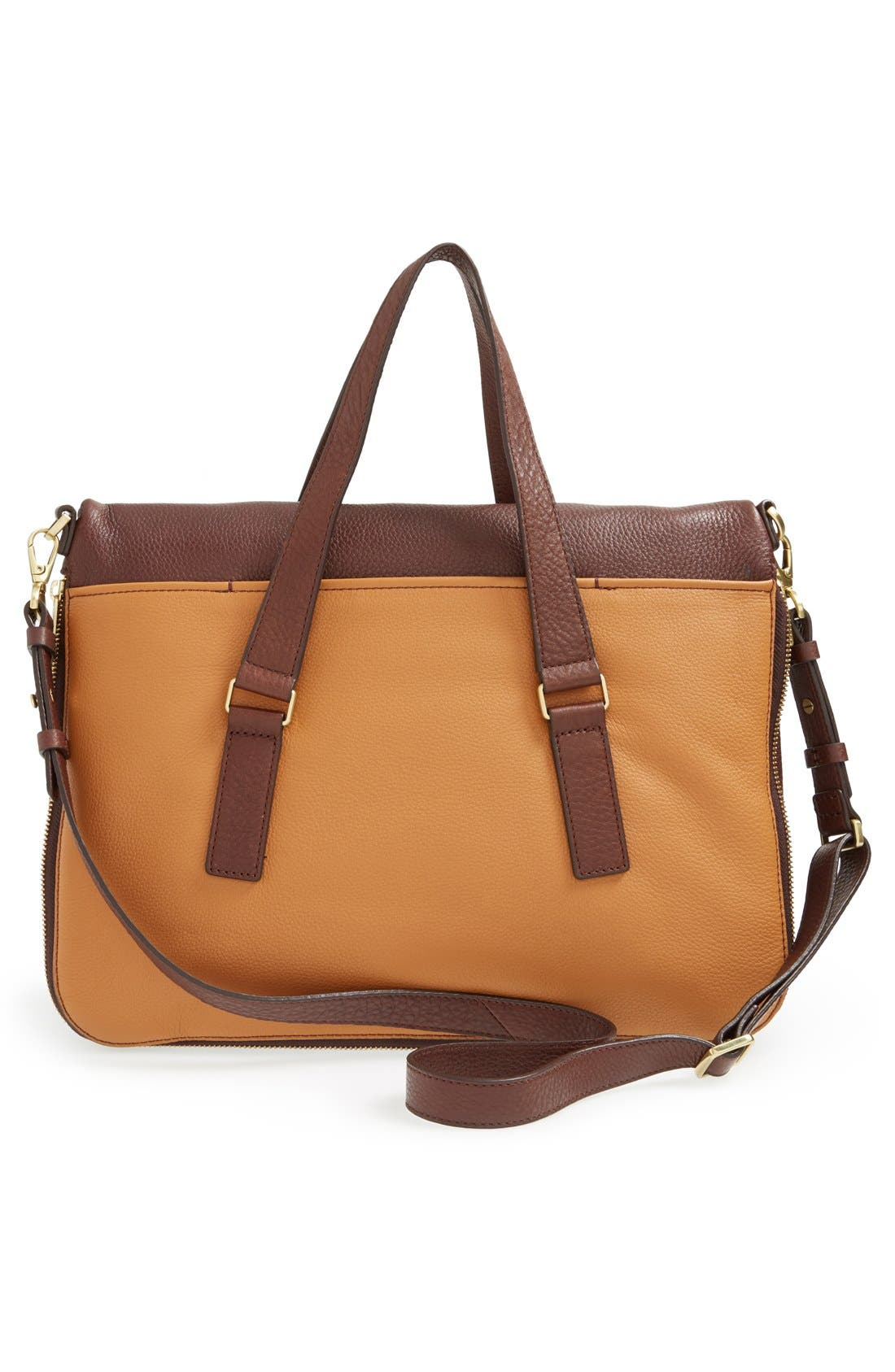 Alternate Image 3  - Fossil 'Preston' Foldover Leather Tote (Online Only)
